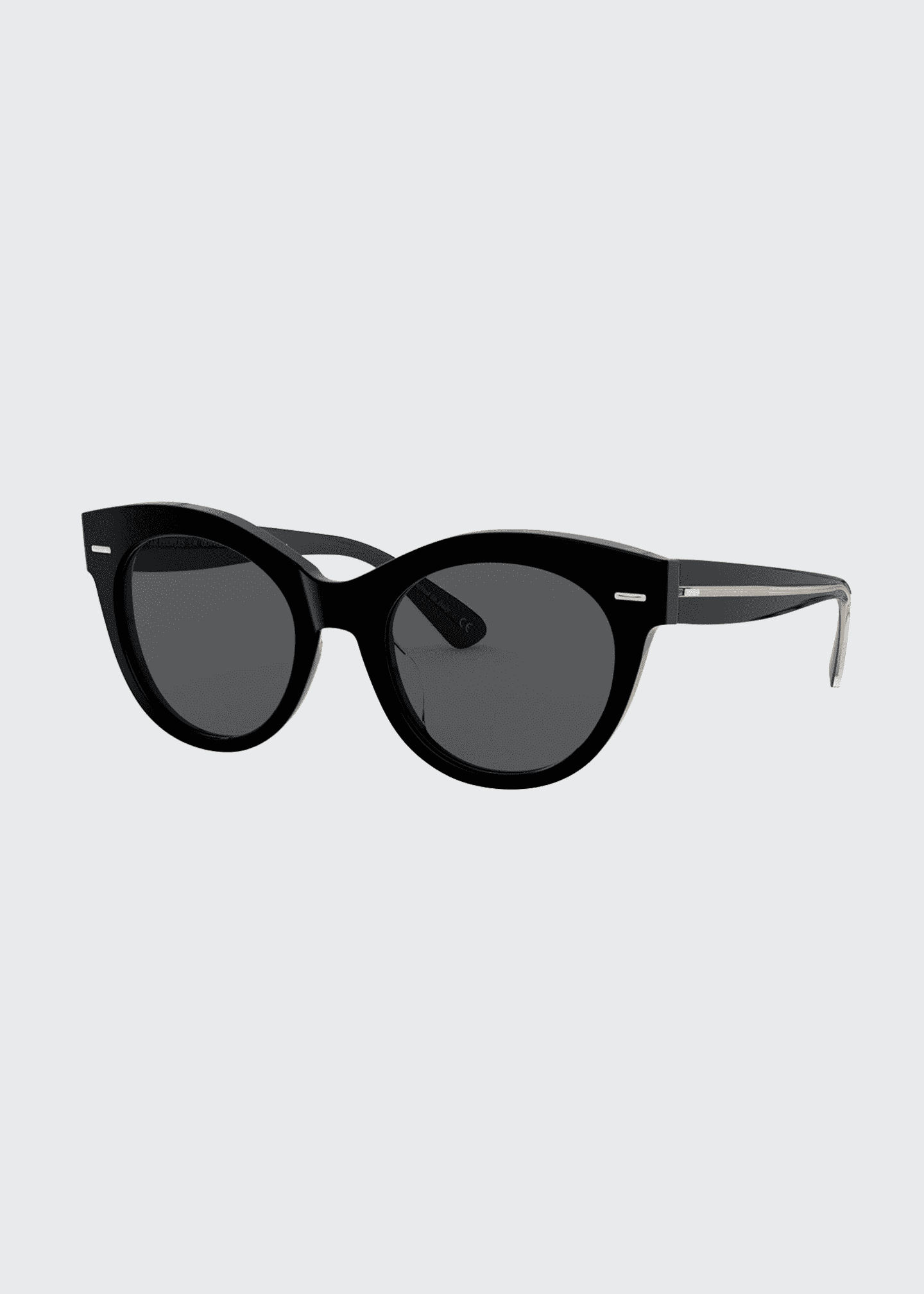 Image 1 of 2: Georgica Polarized Acetate Cat-Eye Sunglasses
