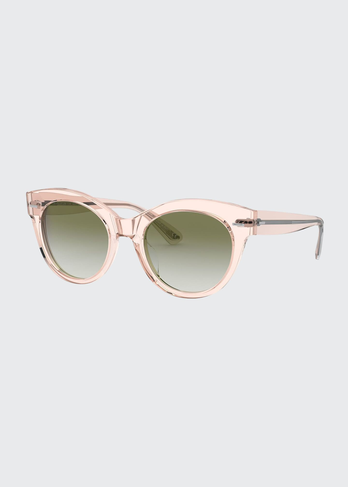 Image 1 of 2: Georgica Acetate Cat-Eye Sunglasses