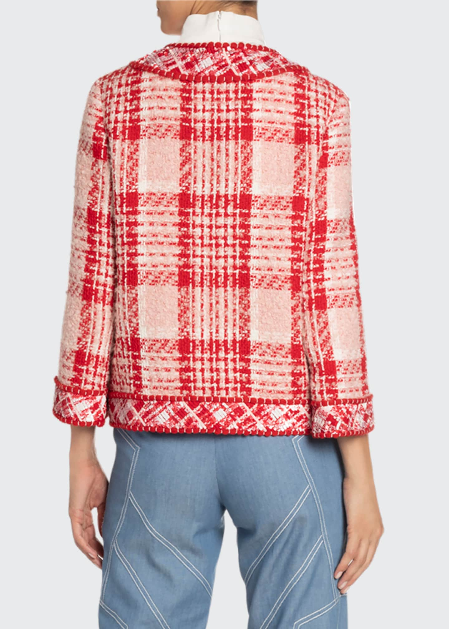 Image 2 of 2: Boxy Plaid Woven Jacket