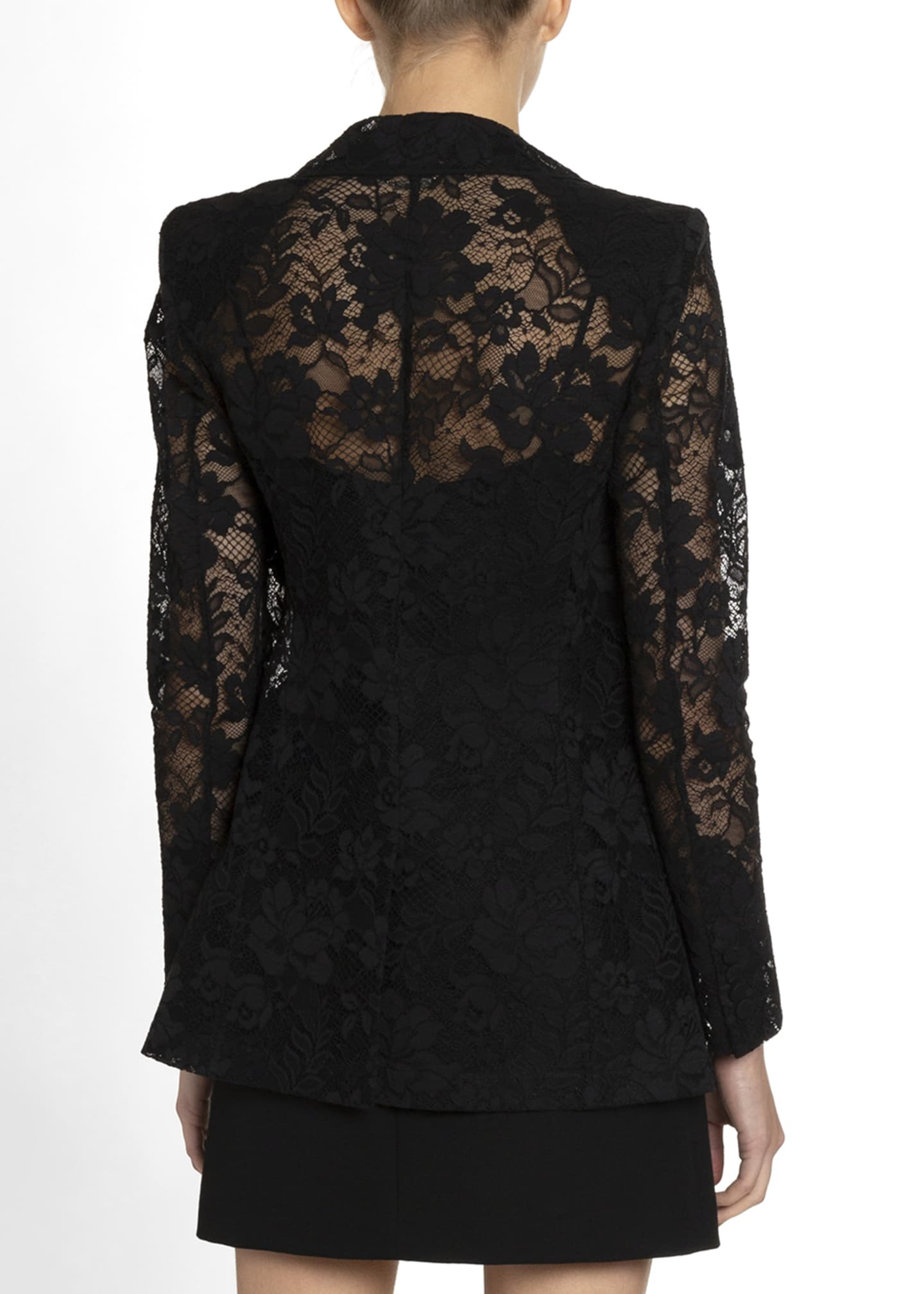 Image 2 of 2: Floral Lace Double-Breasted Blazer