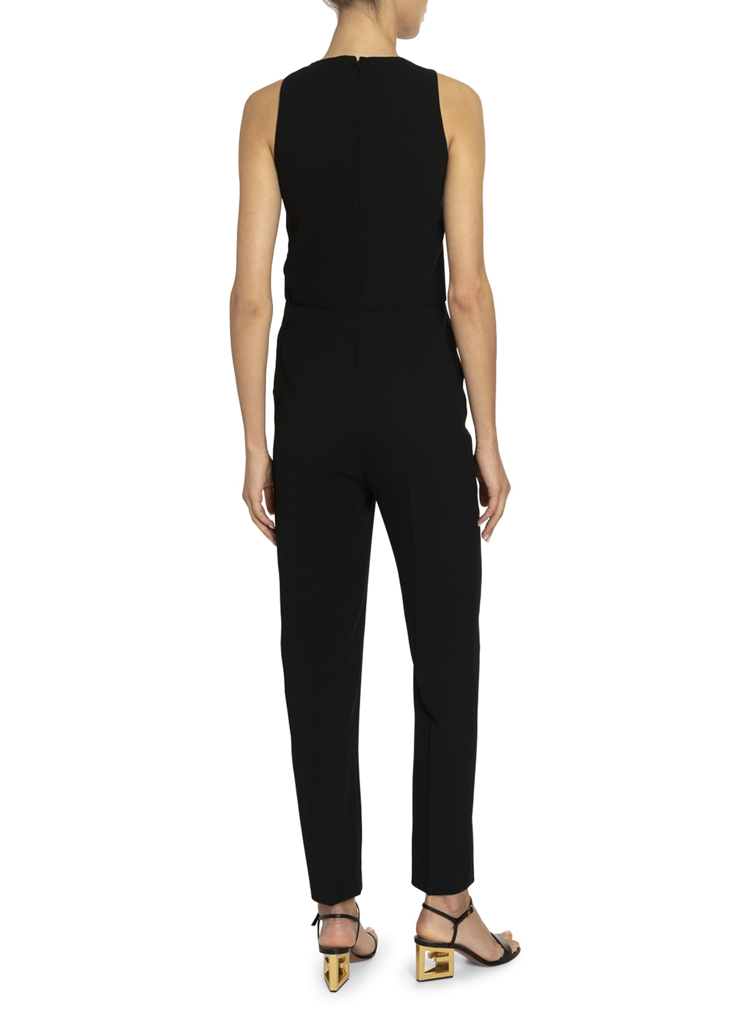 Image 2 of 2: Crystal T-Neck Straight-Leg Jumpsuit