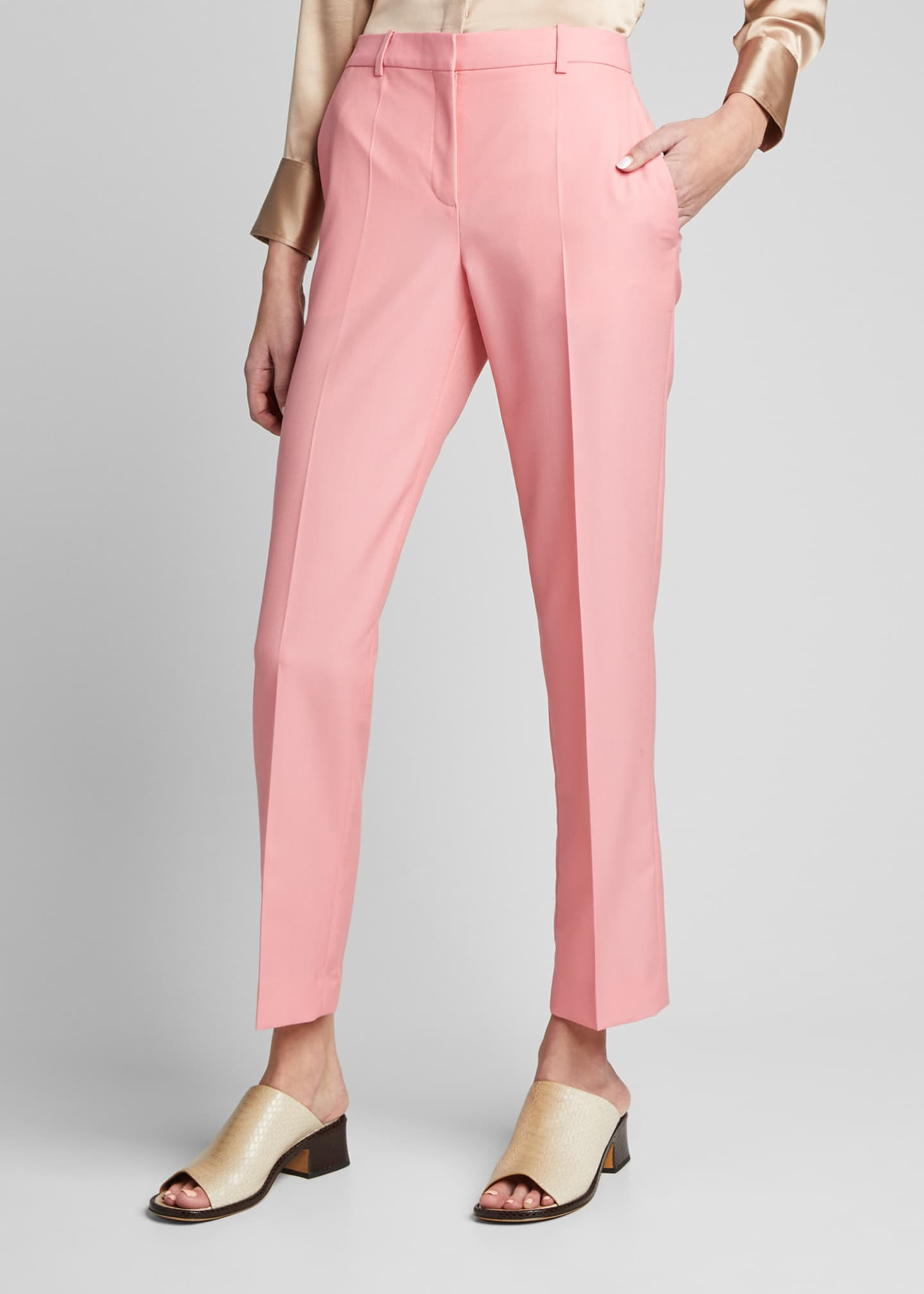 Image 3 of 5: Wool Cigarette Trousers