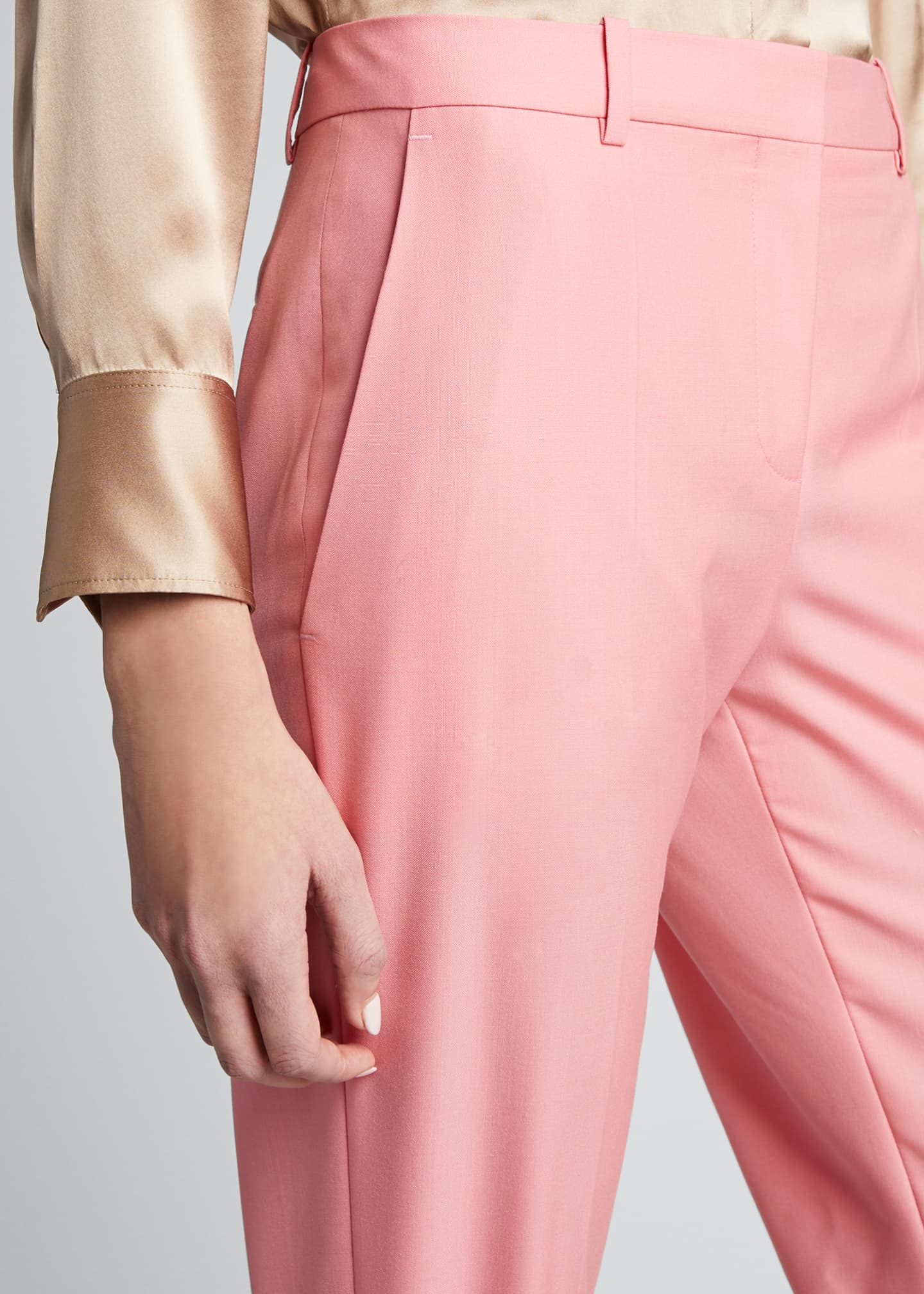 Image 4 of 5: Wool Cigarette Trousers