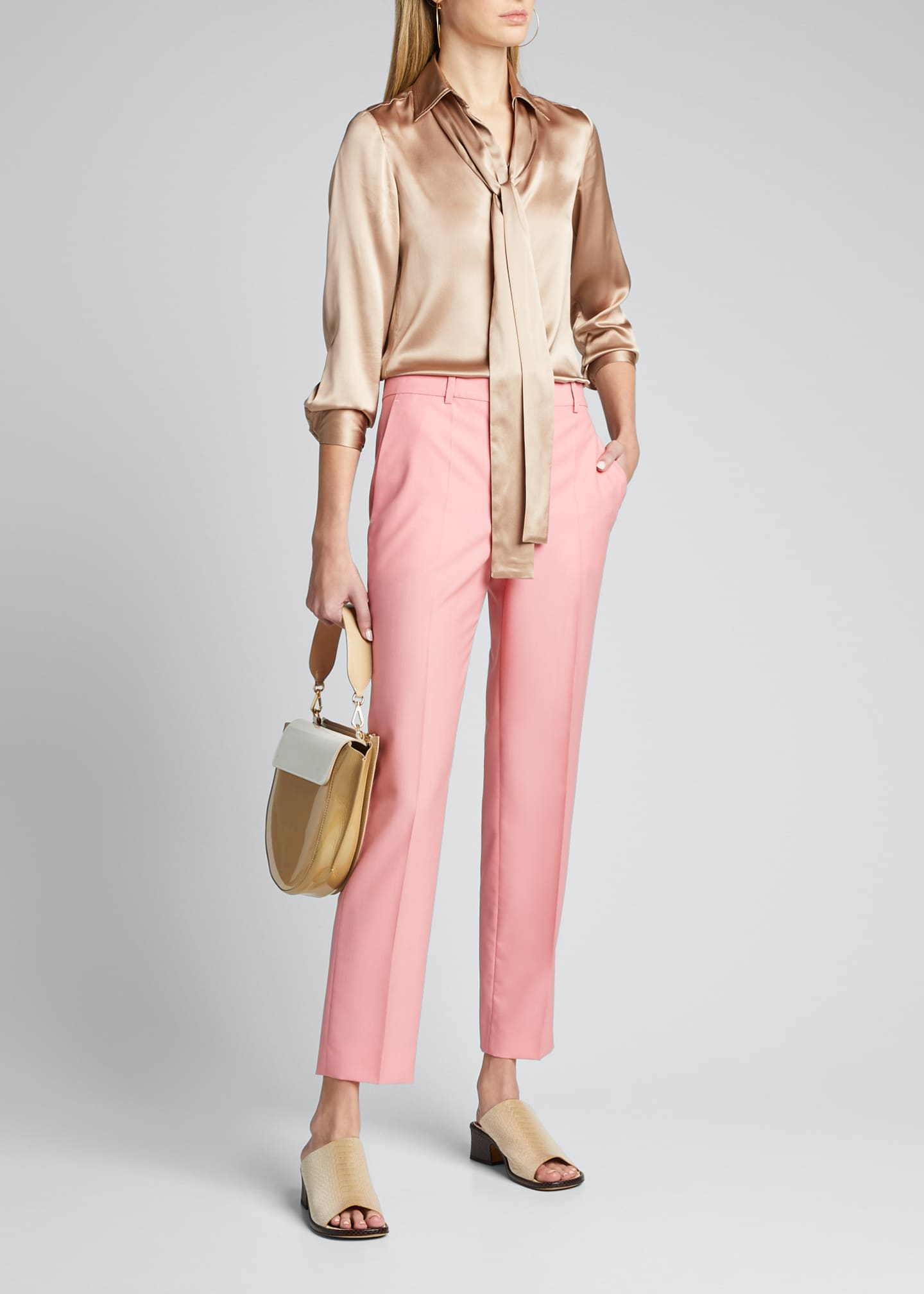 Image 1 of 5: Wool Cigarette Trousers