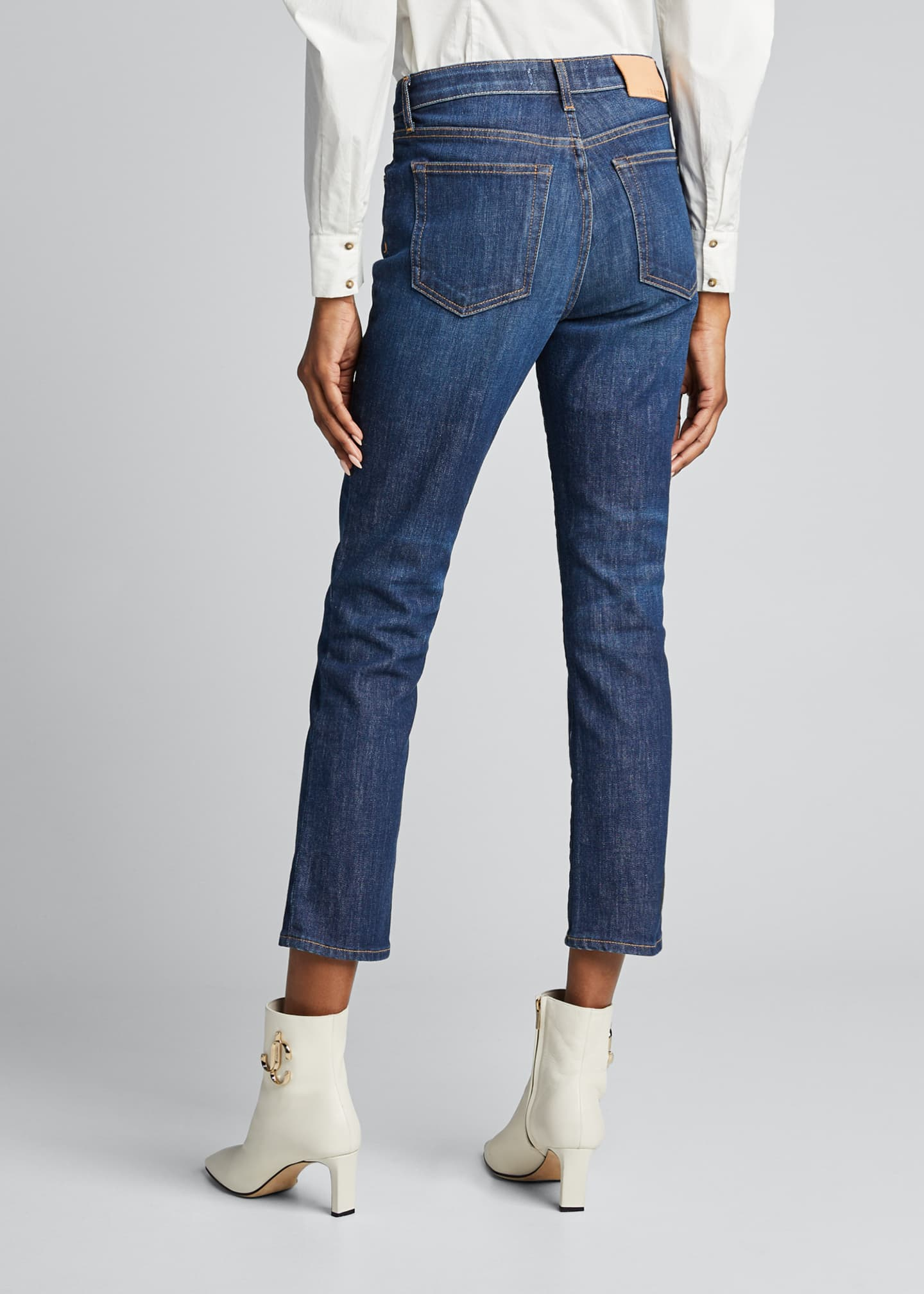 Image 2 of 5: Irina Cropped Straight-Leg Jeans
