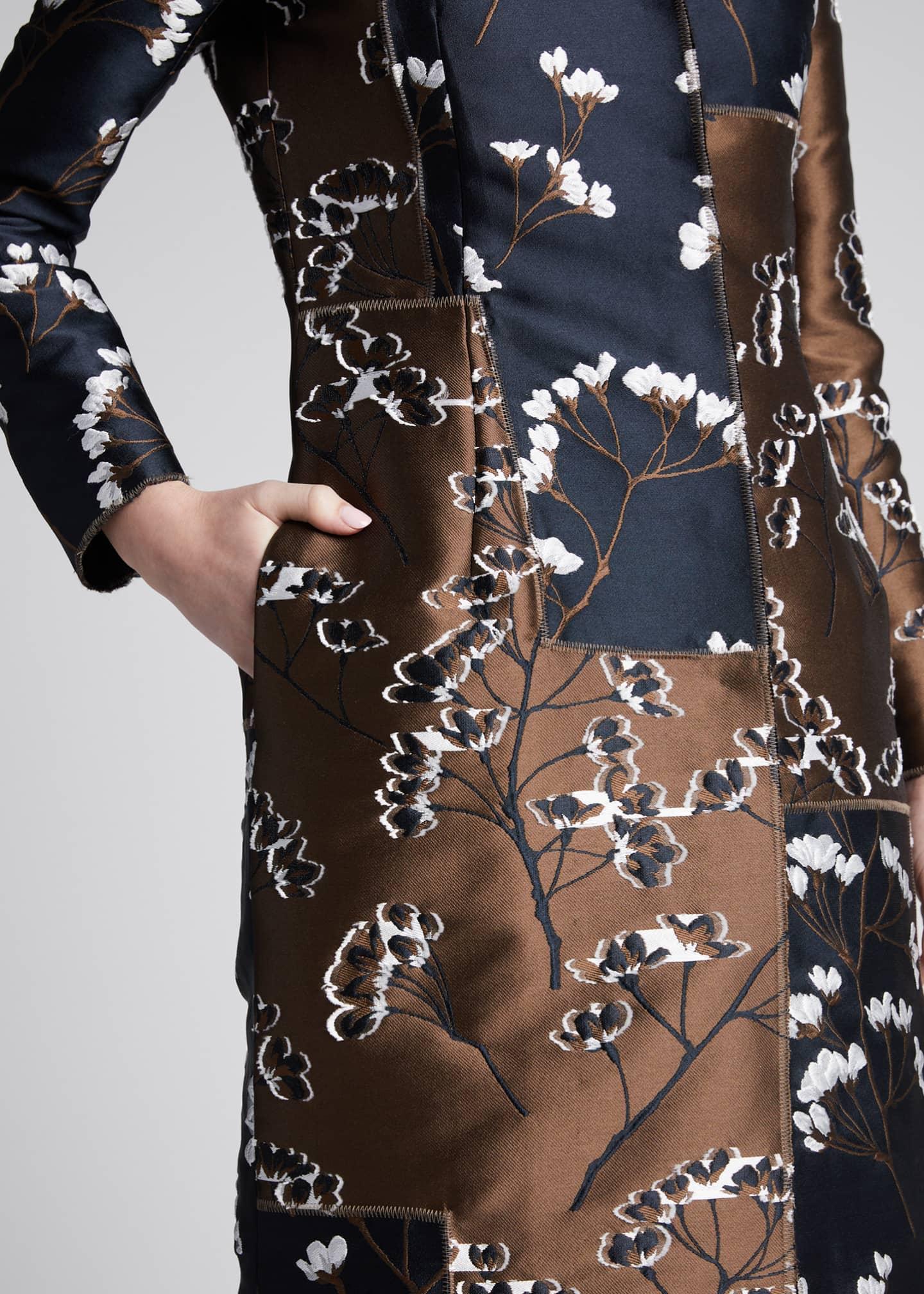 Oscar de la Renta Floral Patchwork-Taffeta Coat - Bergdorf ...
