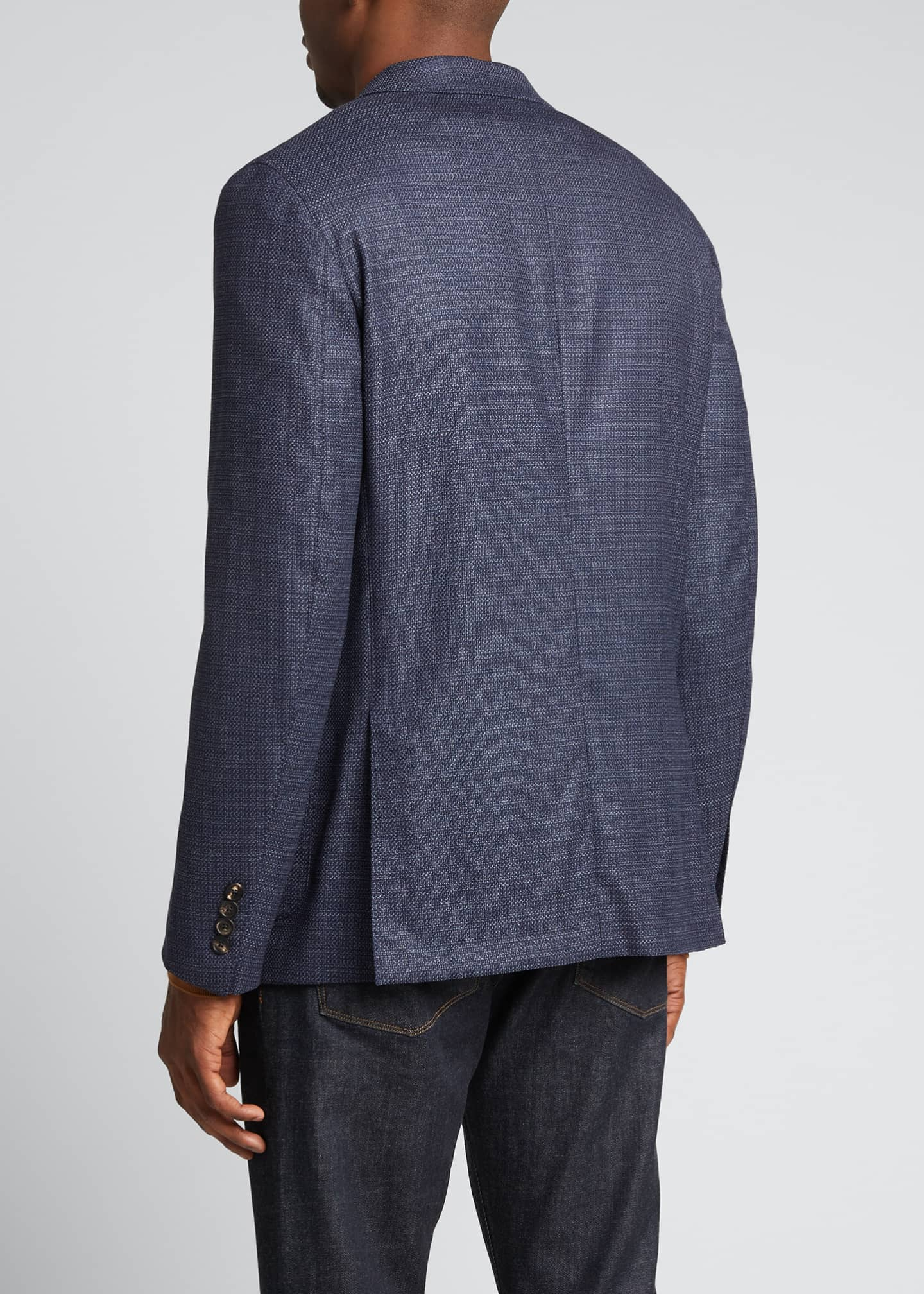 Image 2 of 5: Men's Heathered Solid Blazer