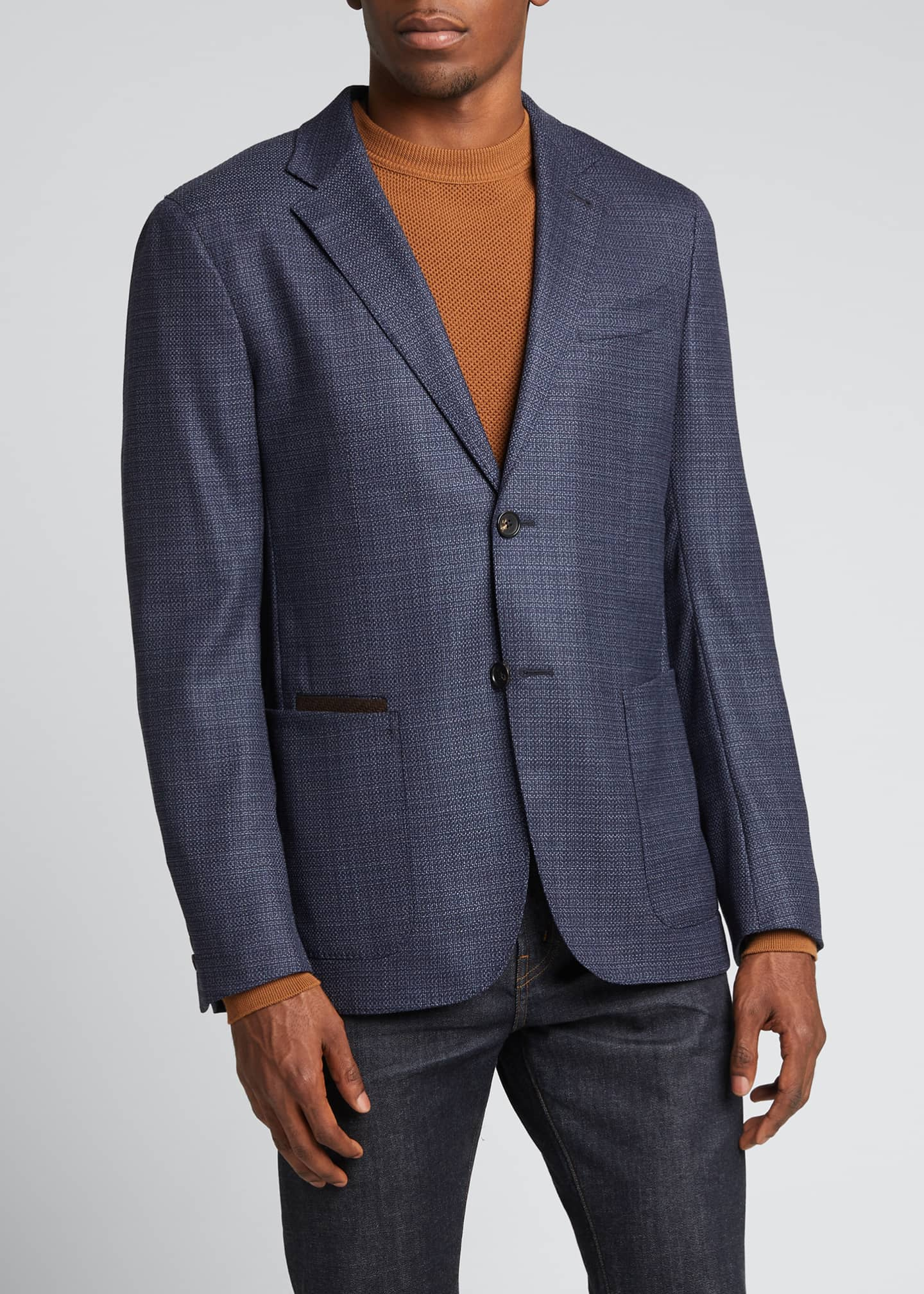 Image 3 of 5: Men's Heathered Solid Blazer