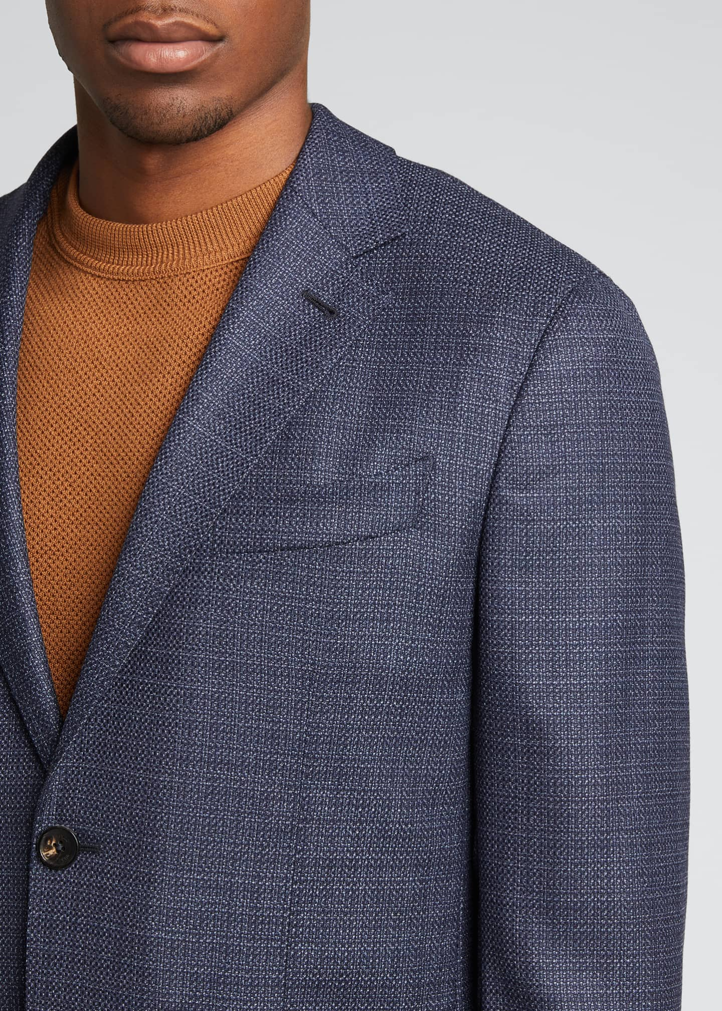 Image 4 of 5: Men's Heathered Solid Blazer