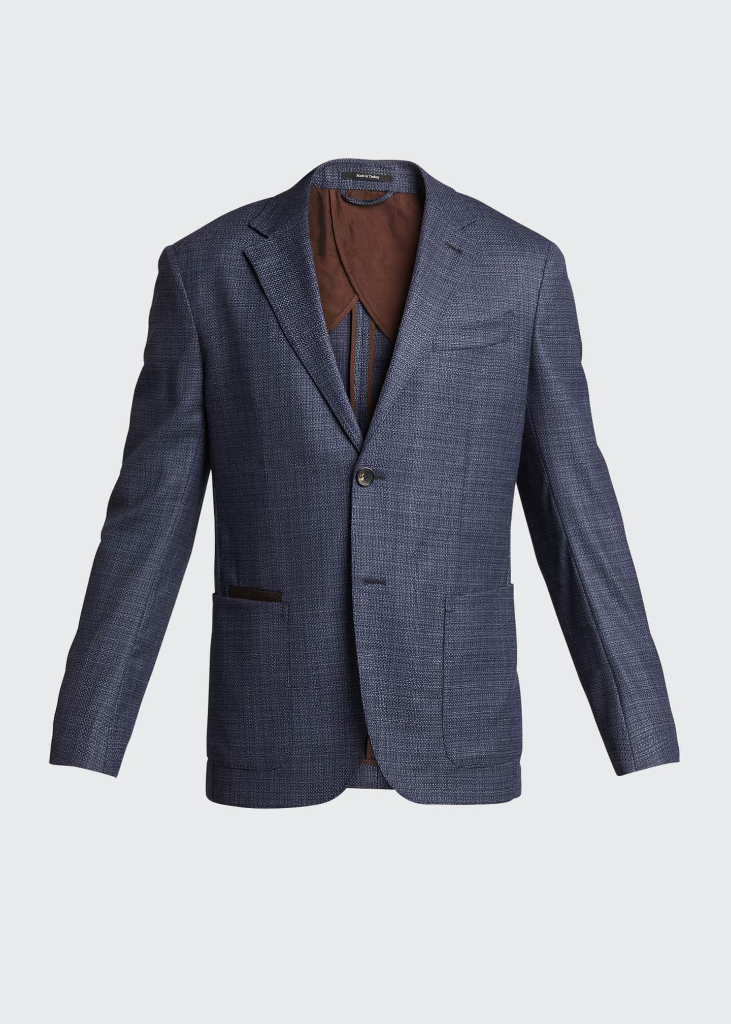 Image 5 of 5: Men's Heathered Solid Blazer