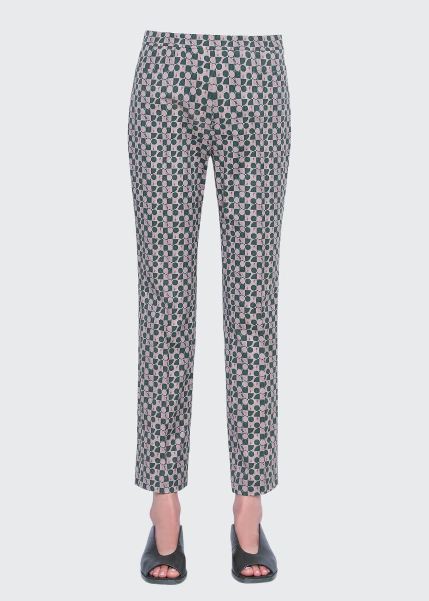 Akris punto Franca Circlefield Stretch Cotton Ankle Pants