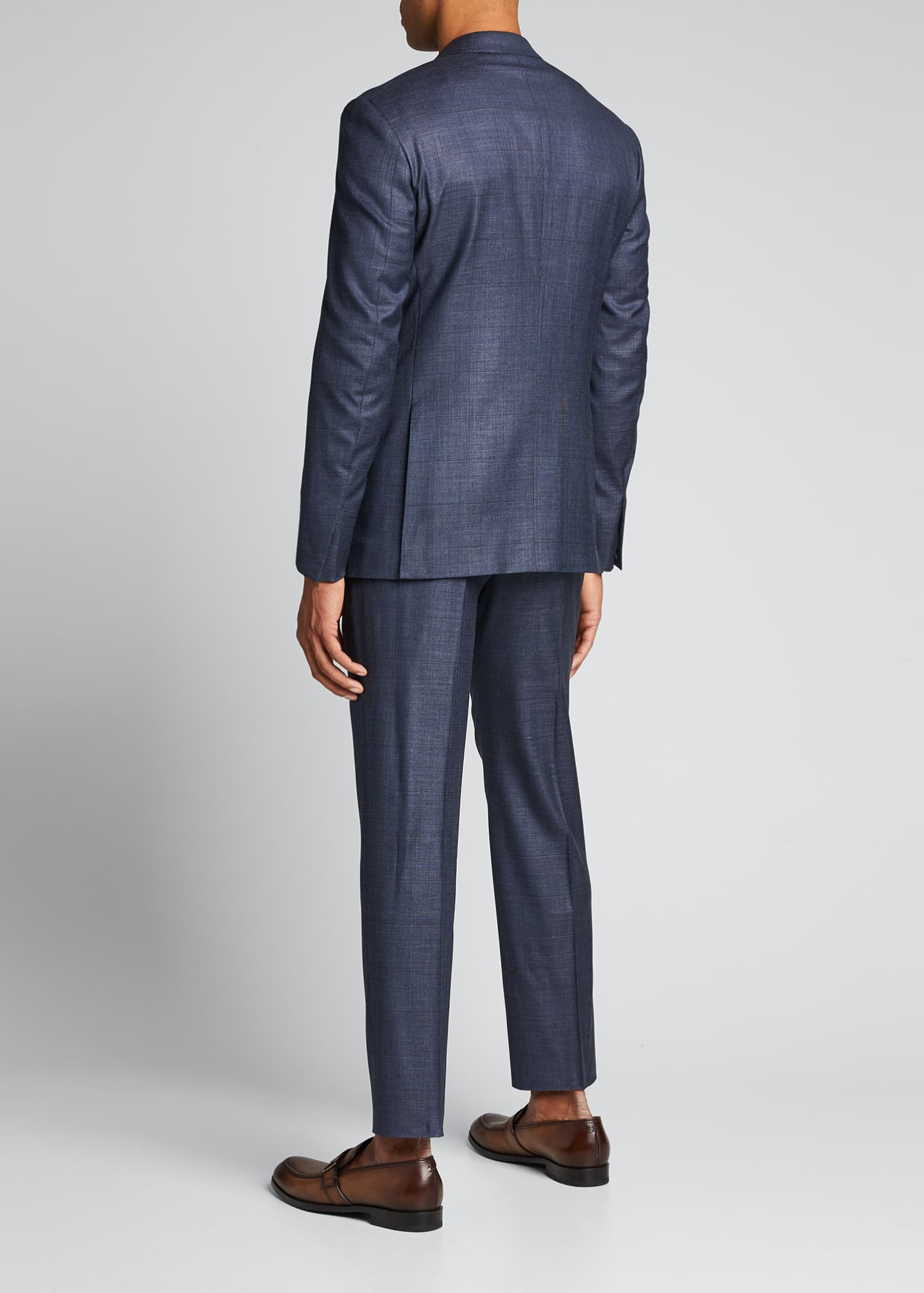 Image 2 of 5: Men's Tic Windowpane Regular-Fit Two-Piece Suit