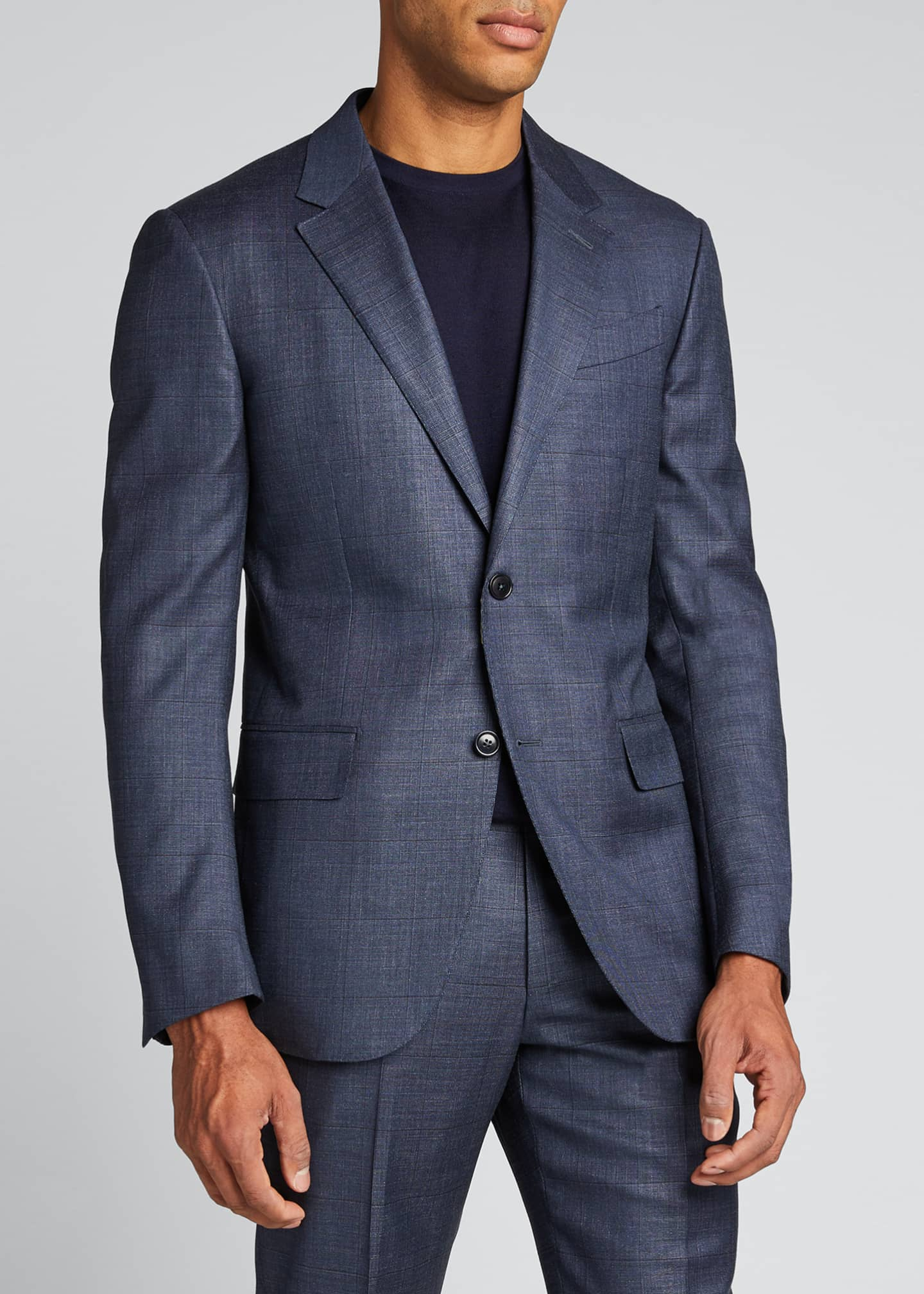 Image 3 of 5: Men's Tic Windowpane Regular-Fit Two-Piece Suit