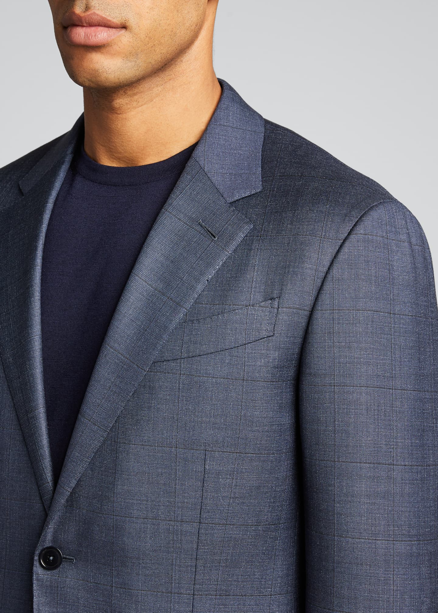 Image 4 of 5: Men's Tic Windowpane Regular-Fit Two-Piece Suit