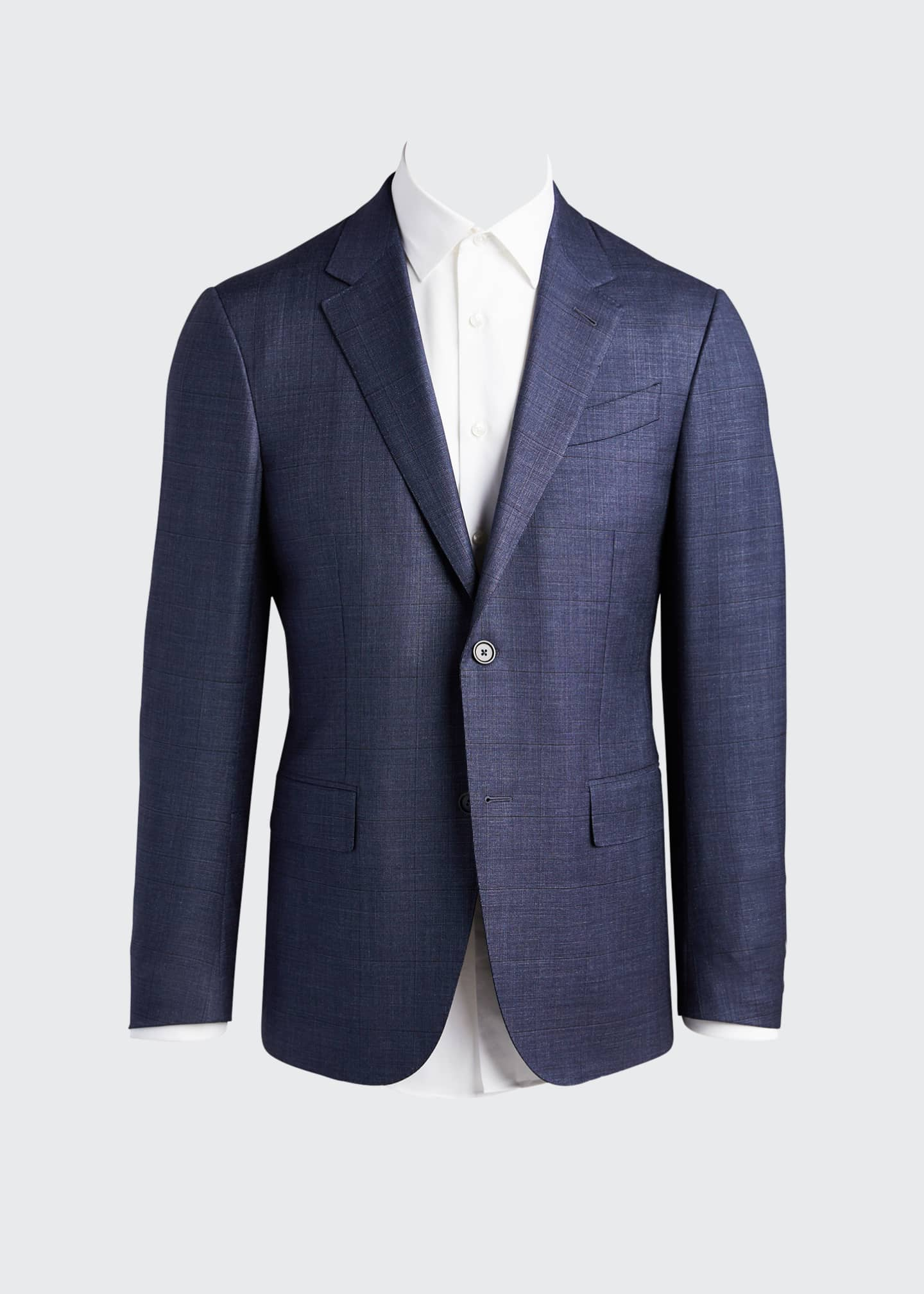 Image 5 of 5: Men's Tic Windowpane Regular-Fit Two-Piece Suit