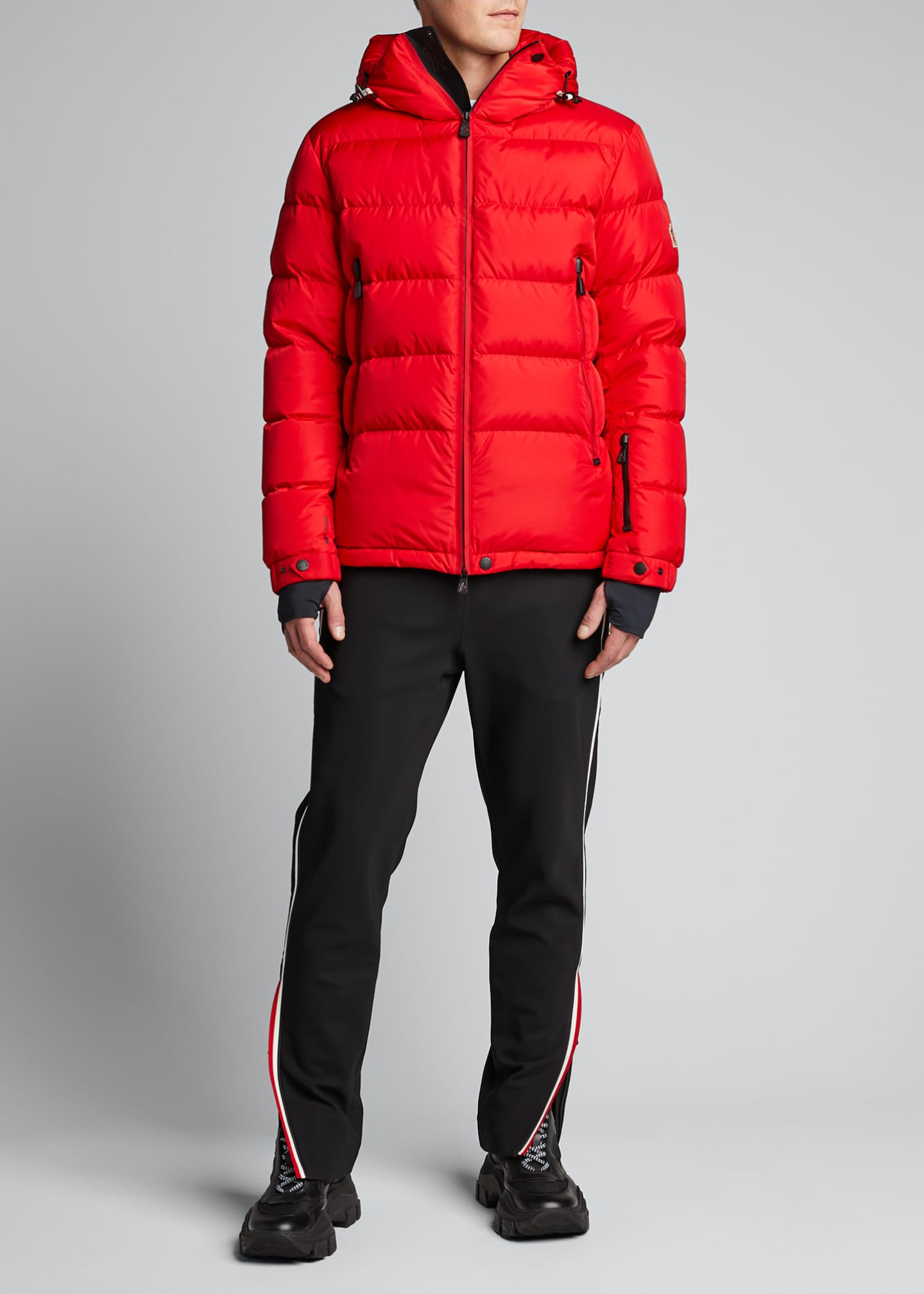 Moncler Men's Grenoble Isorno Logo Typography Puffer Jacket