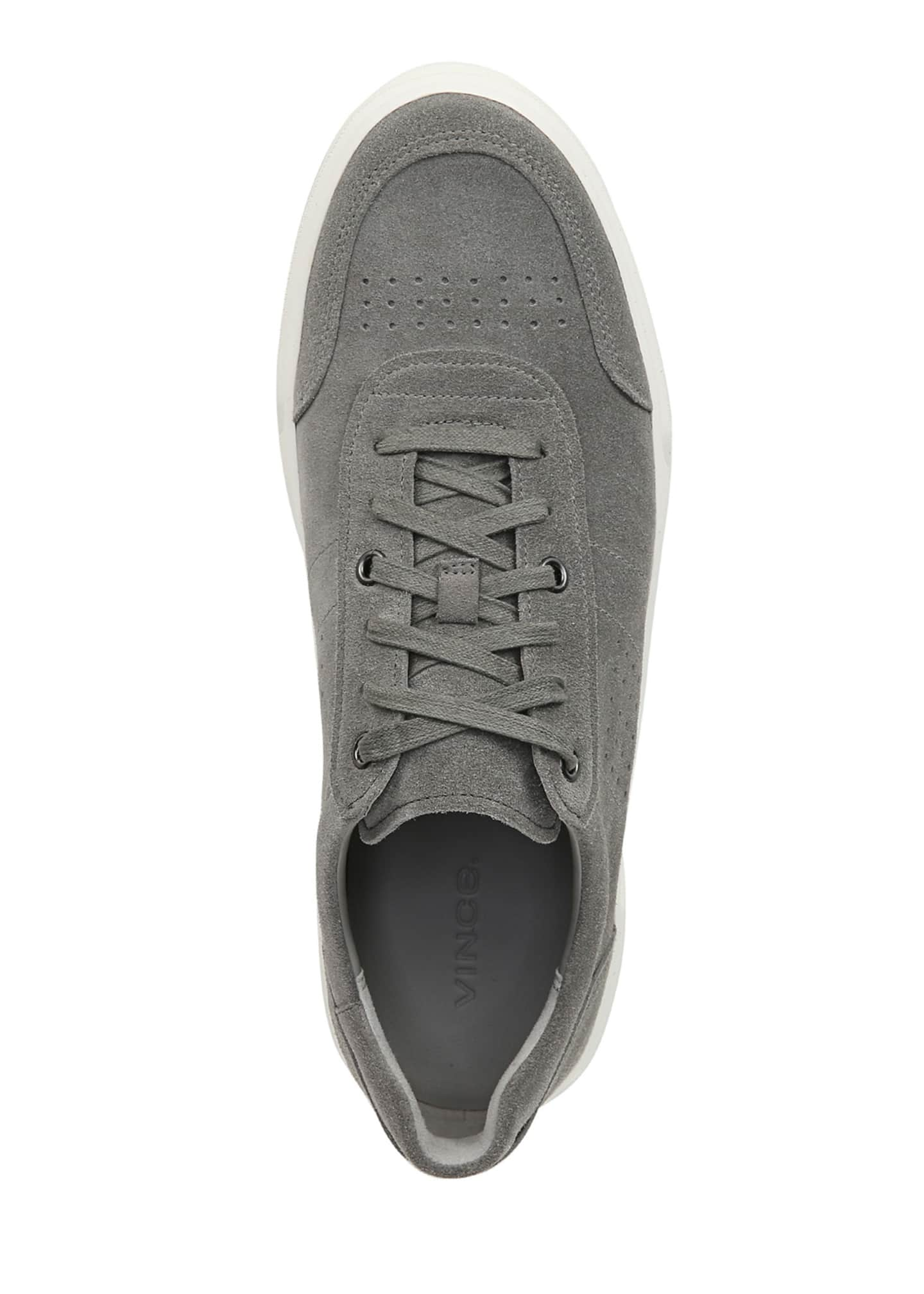 Image 2 of 5: Men's Barnett Perforated Suede Low-Top Sneakers