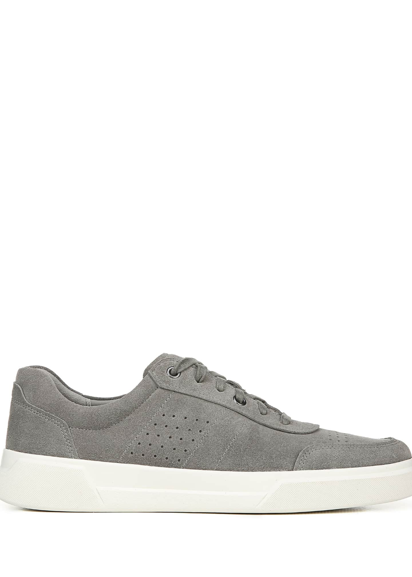 Image 3 of 5: Men's Barnett Perforated Suede Low-Top Sneakers