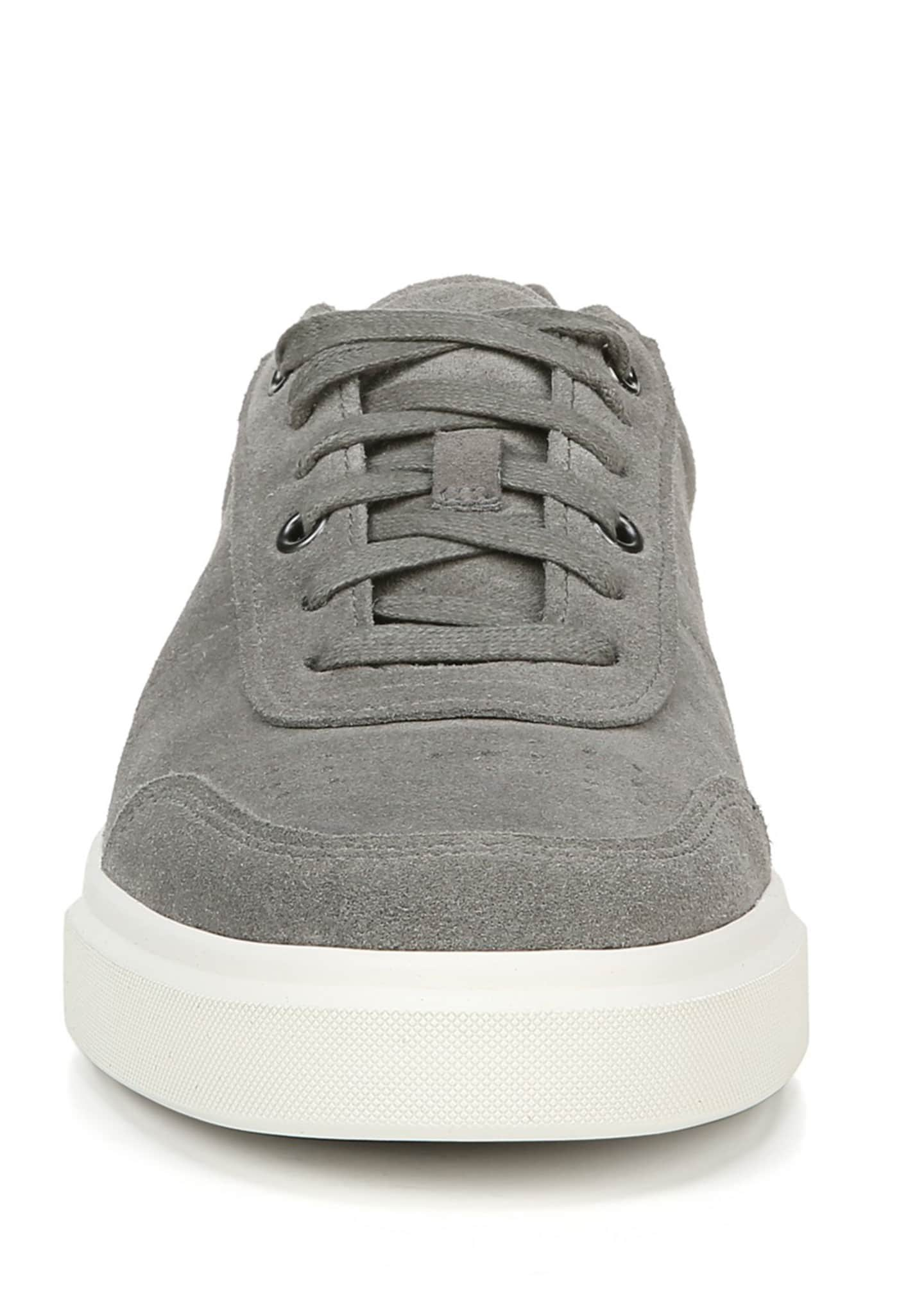 Image 5 of 5: Men's Barnett Perforated Suede Low-Top Sneakers