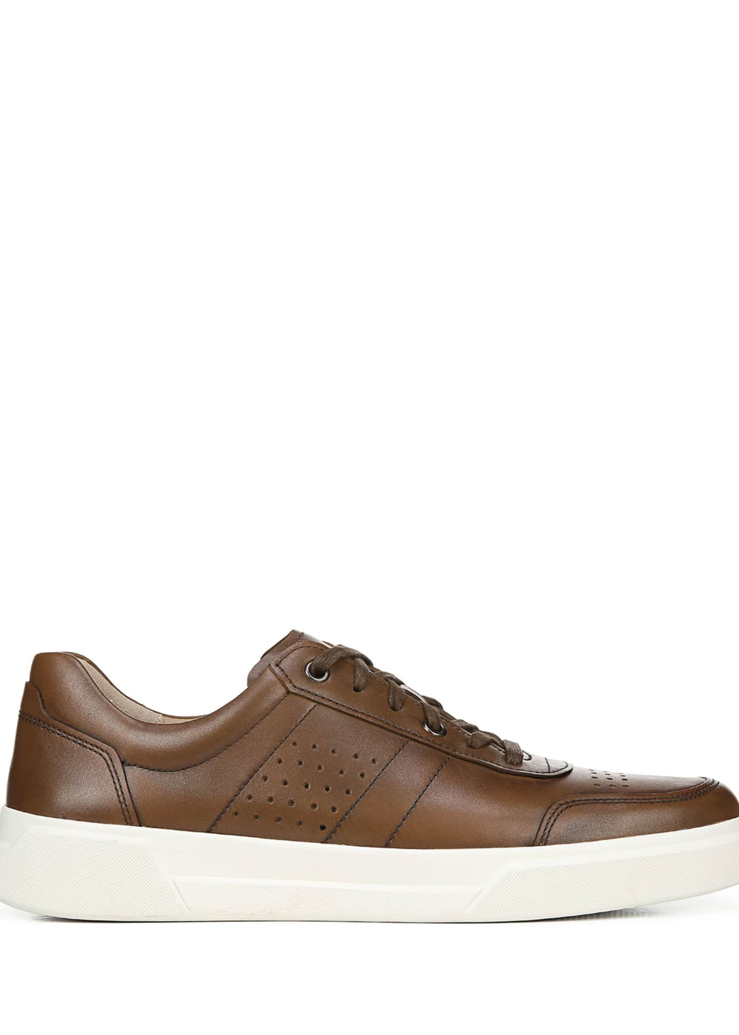 Image 3 of 5: Men's Barnett Perforated Leather Low-Top Sneakers
