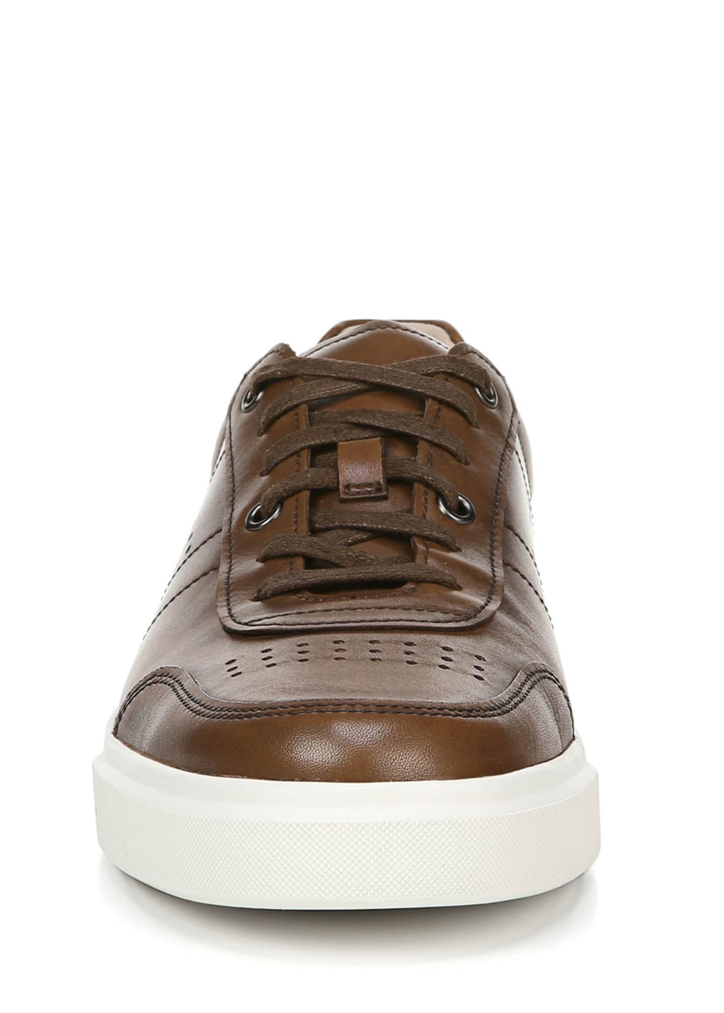 Image 5 of 5: Men's Barnett Perforated Leather Low-Top Sneakers