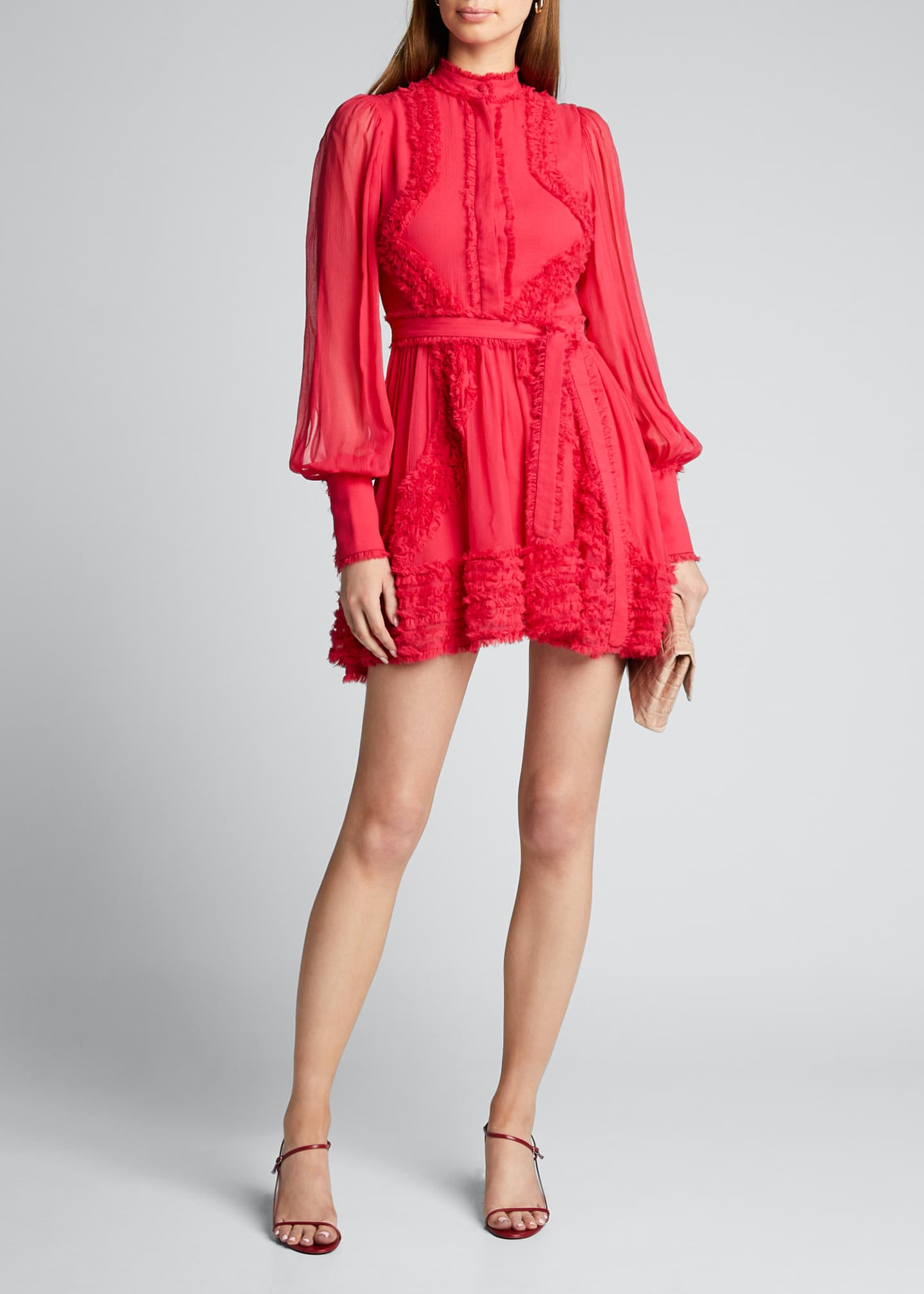 Alexis Olinka Long-Sleeve Ruffle Dress
