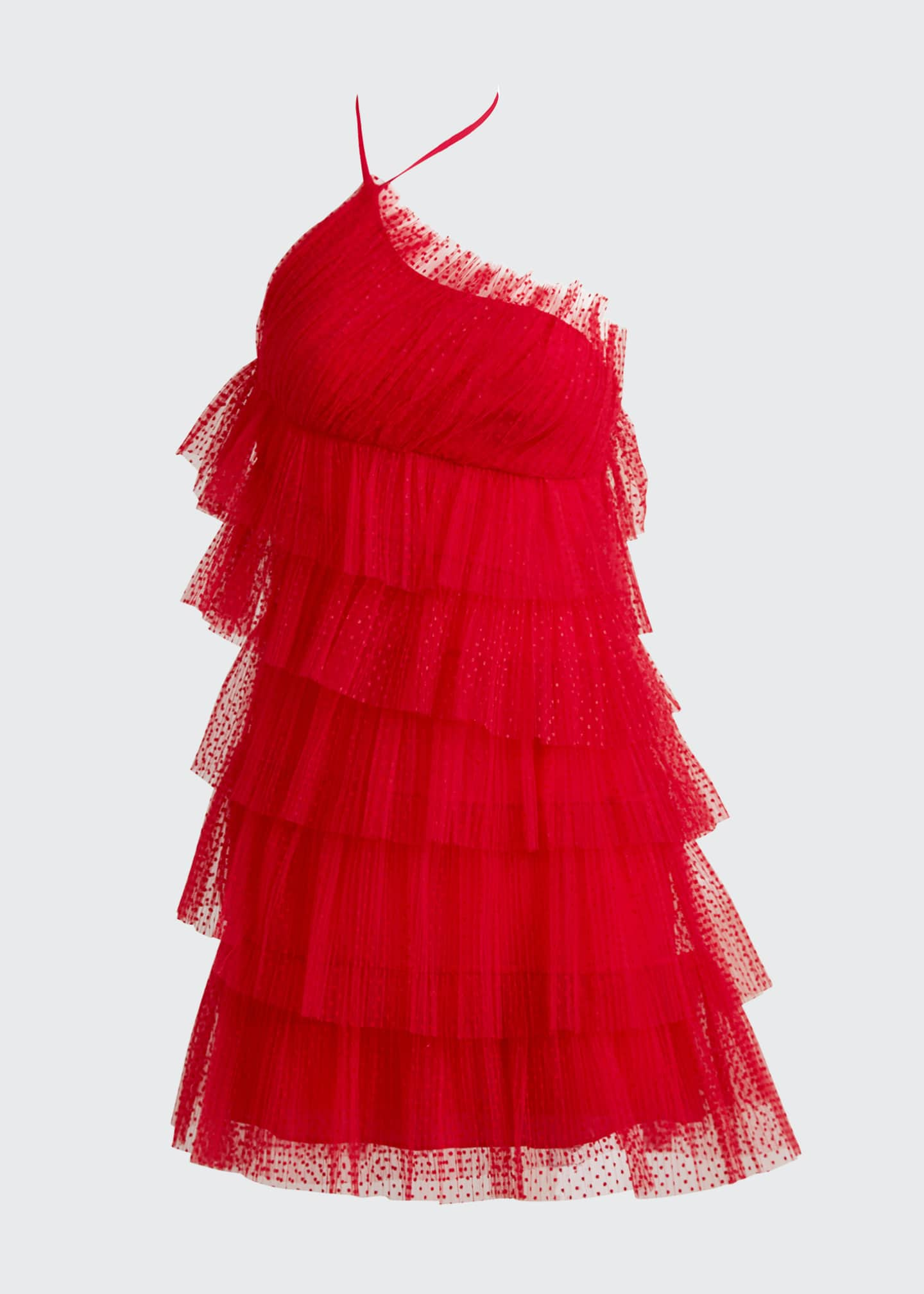 Image 5 of 5: Raina Tiered Tulle Halter Dress