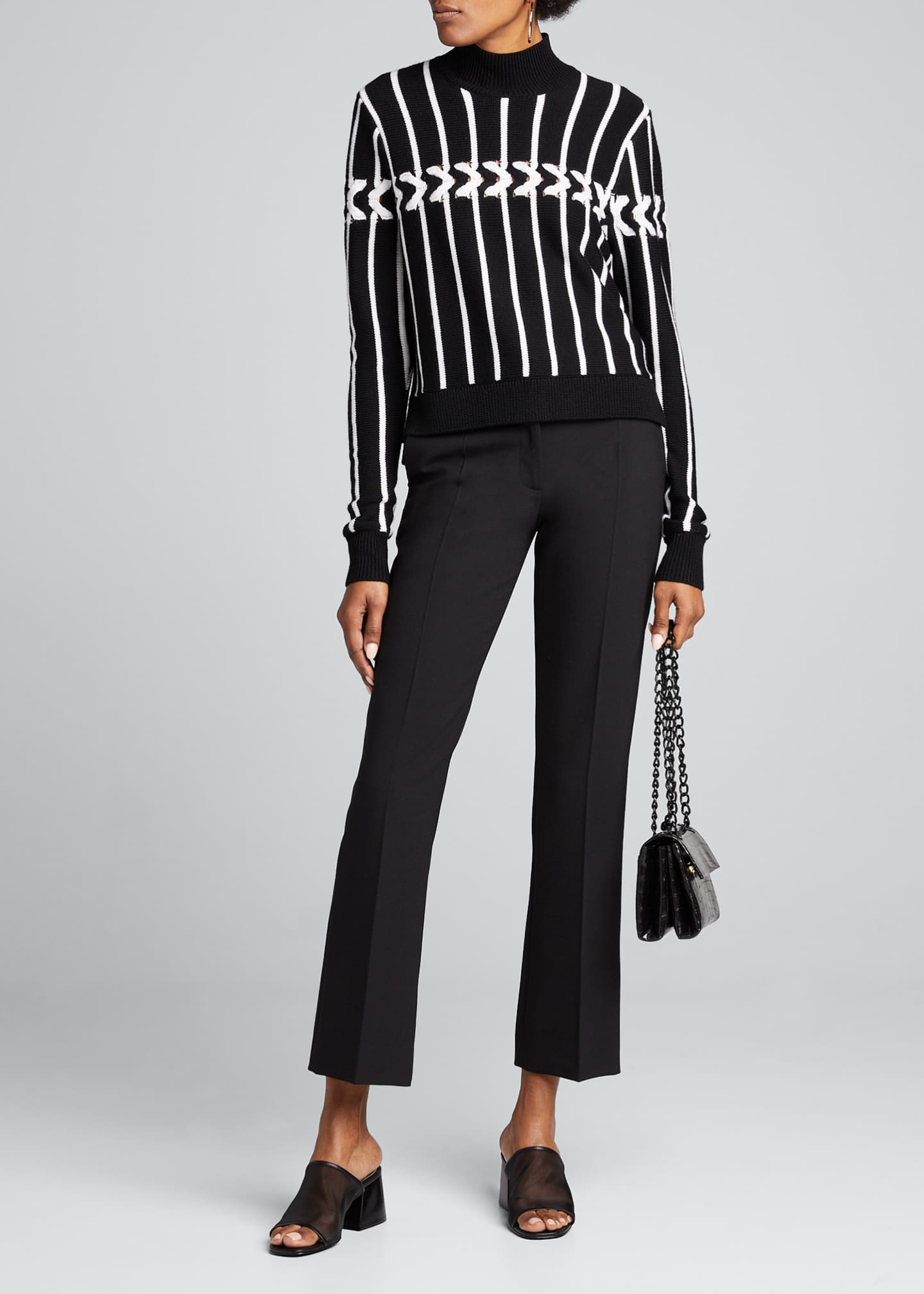 Jonathan Simkhai Lofty Chain Turtleneck Sweater