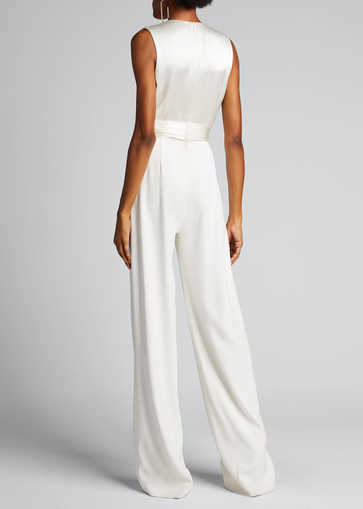 Image 2 of 5: Satin Combo Wrap Jumpsuit