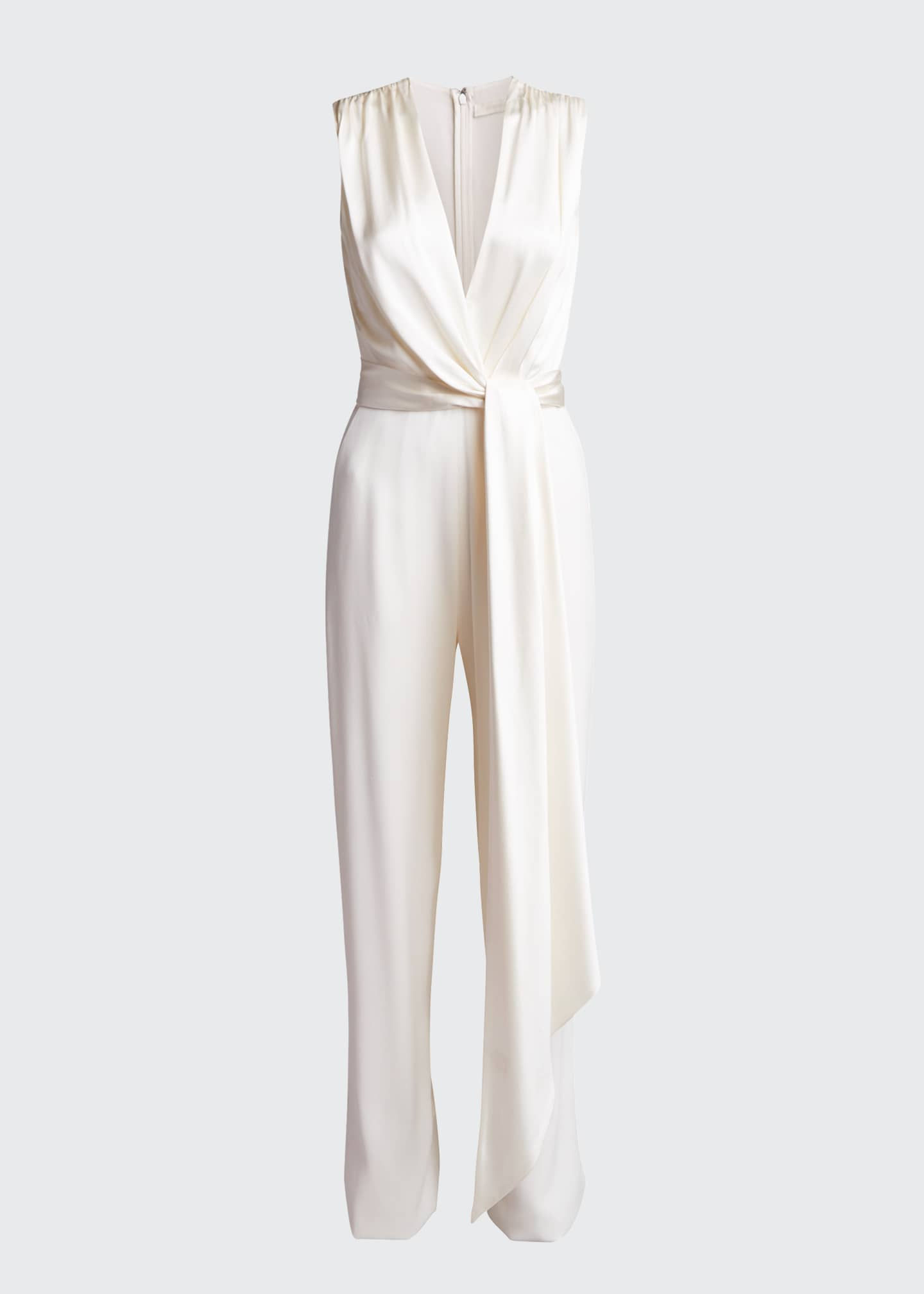 Image 5 of 5: Satin Combo Wrap Jumpsuit