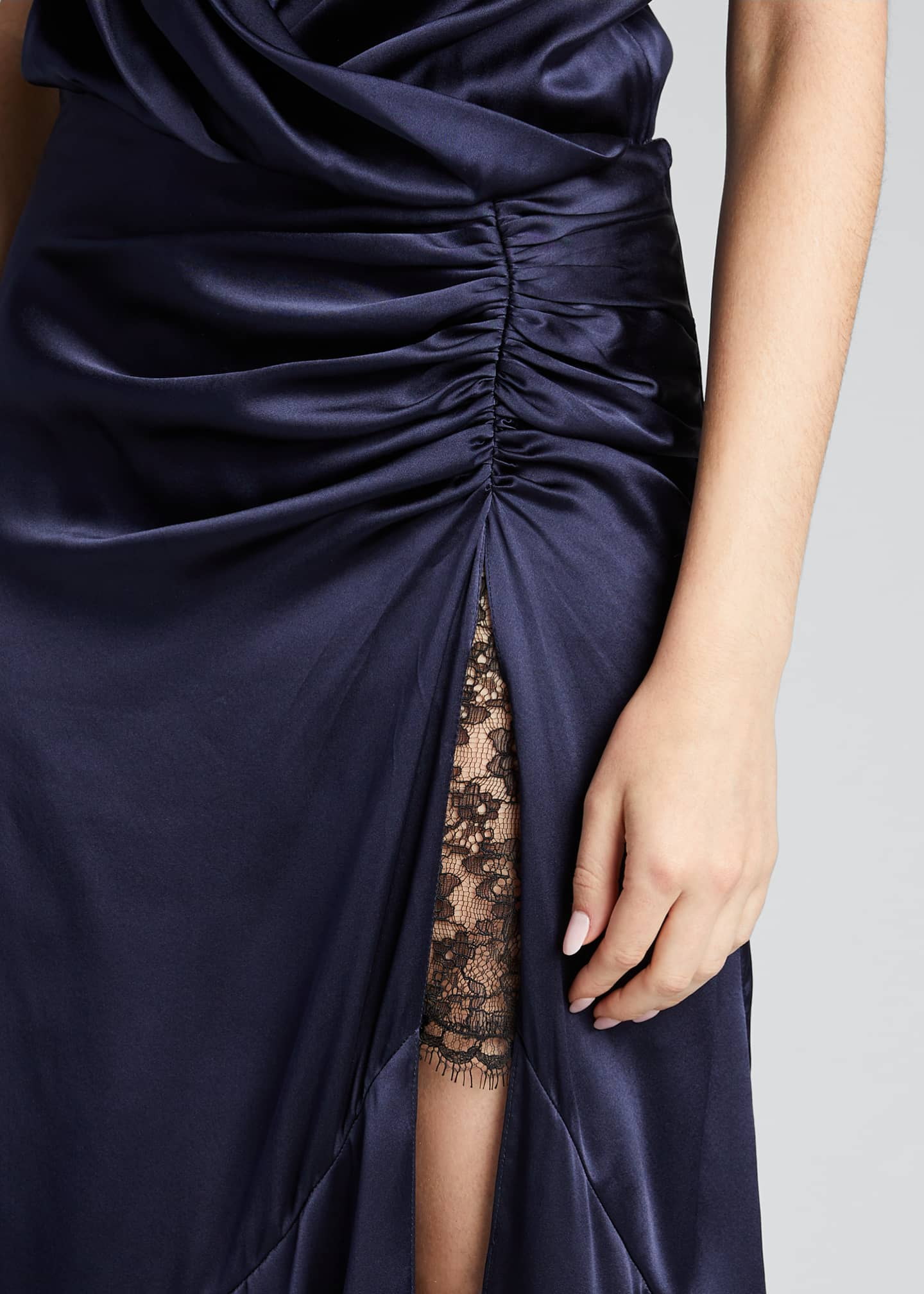 Image 4 of 5: Lace Slit Cocktail Dress