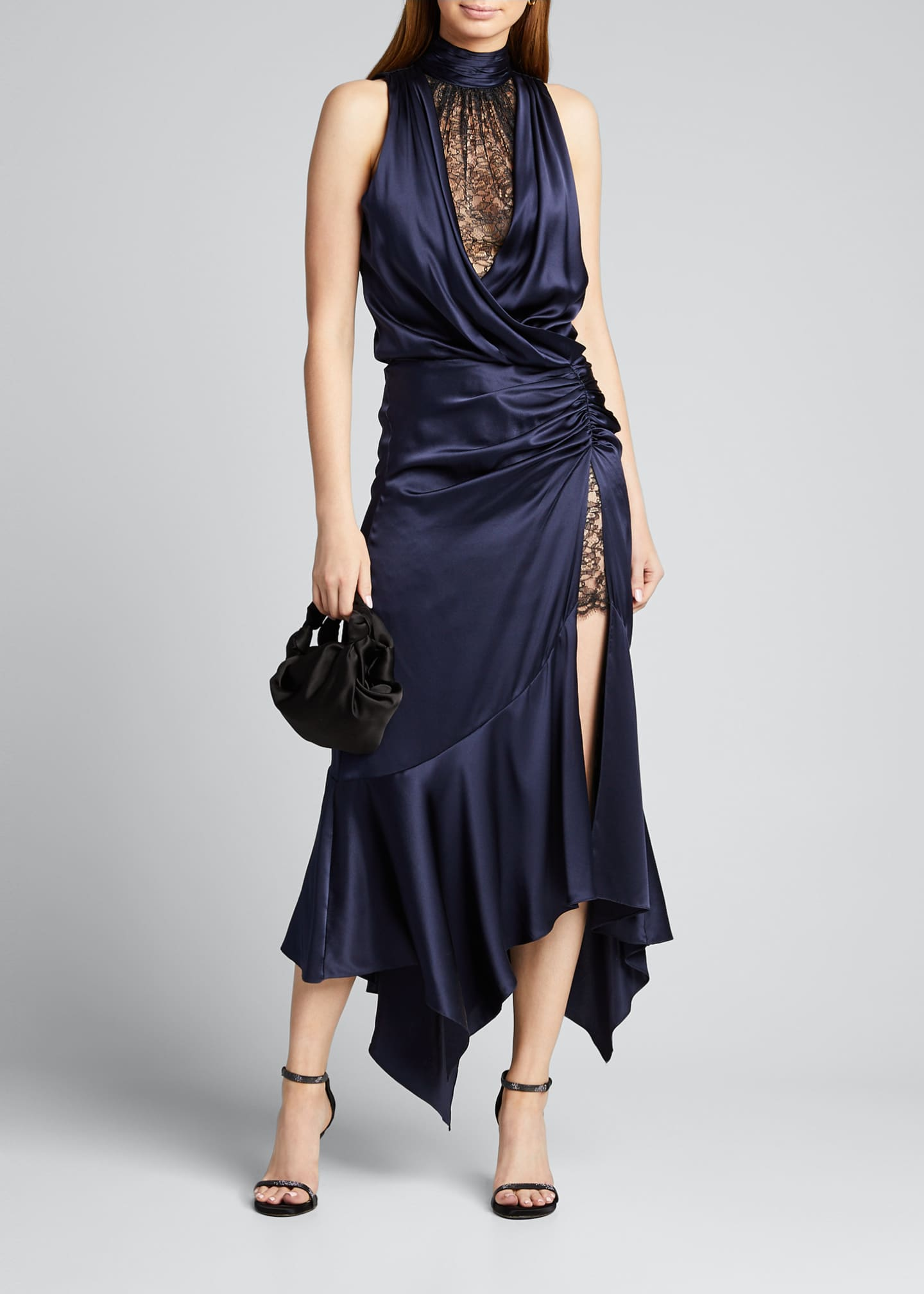 Image 1 of 5: Lace Slit Cocktail Dress