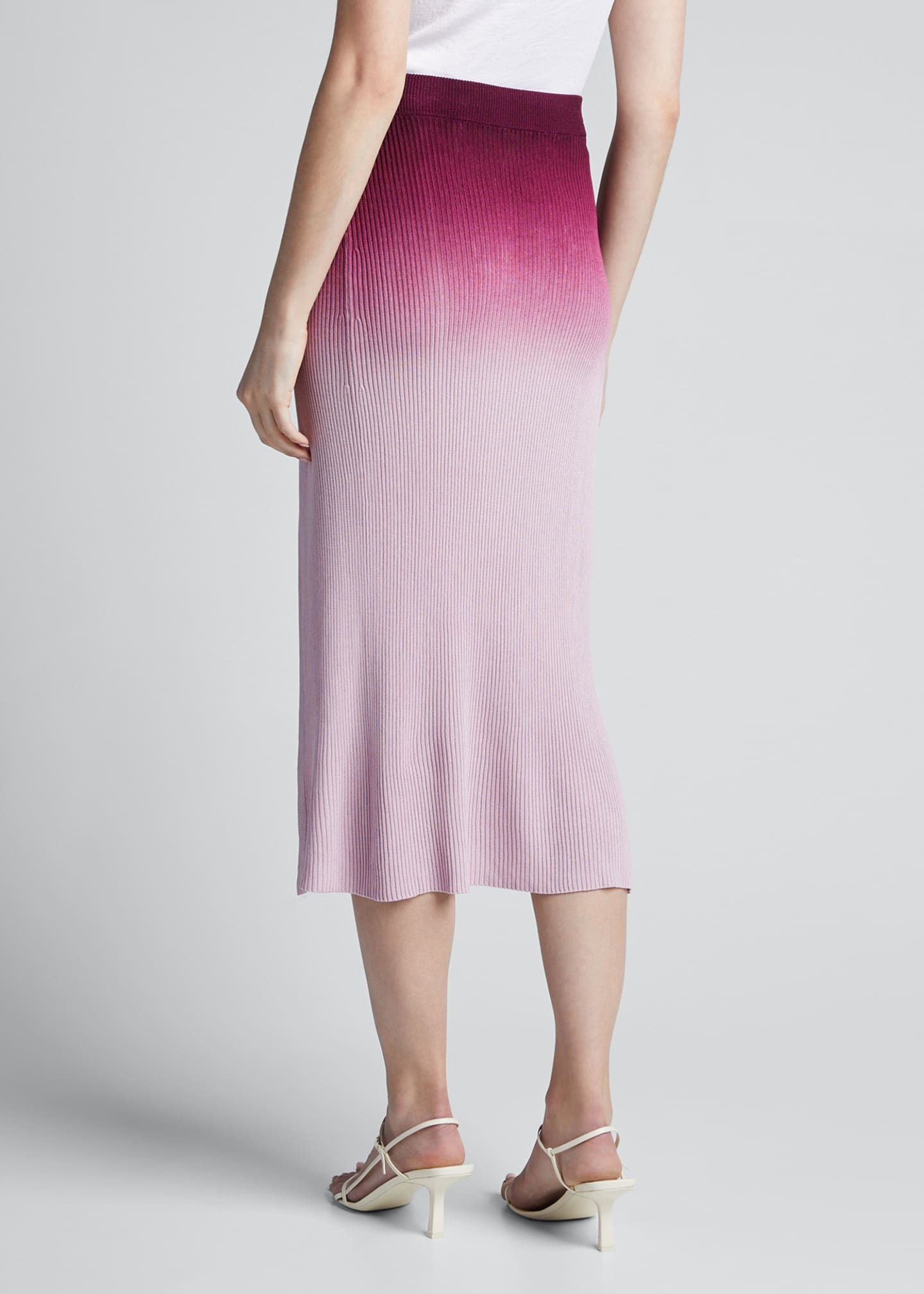 Image 2 of 5: Ombre Wrap Midi Skirt
