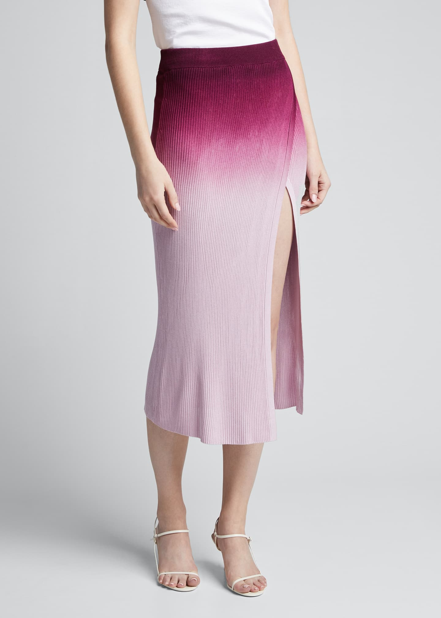 Image 3 of 5: Ombre Wrap Midi Skirt