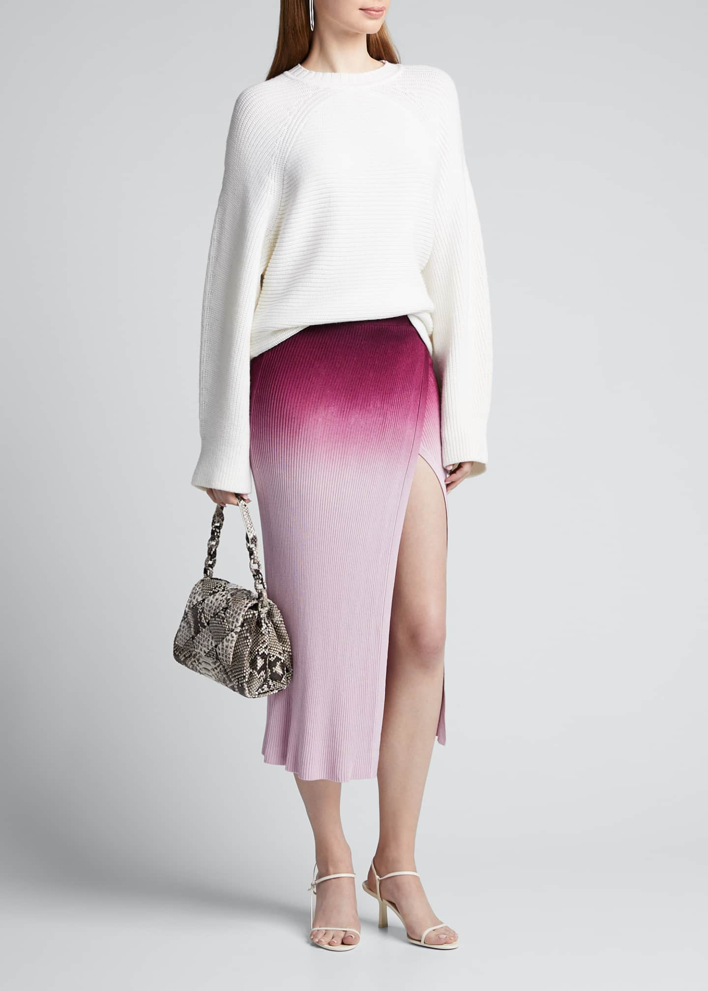 Image 1 of 5: Ombre Wrap Midi Skirt