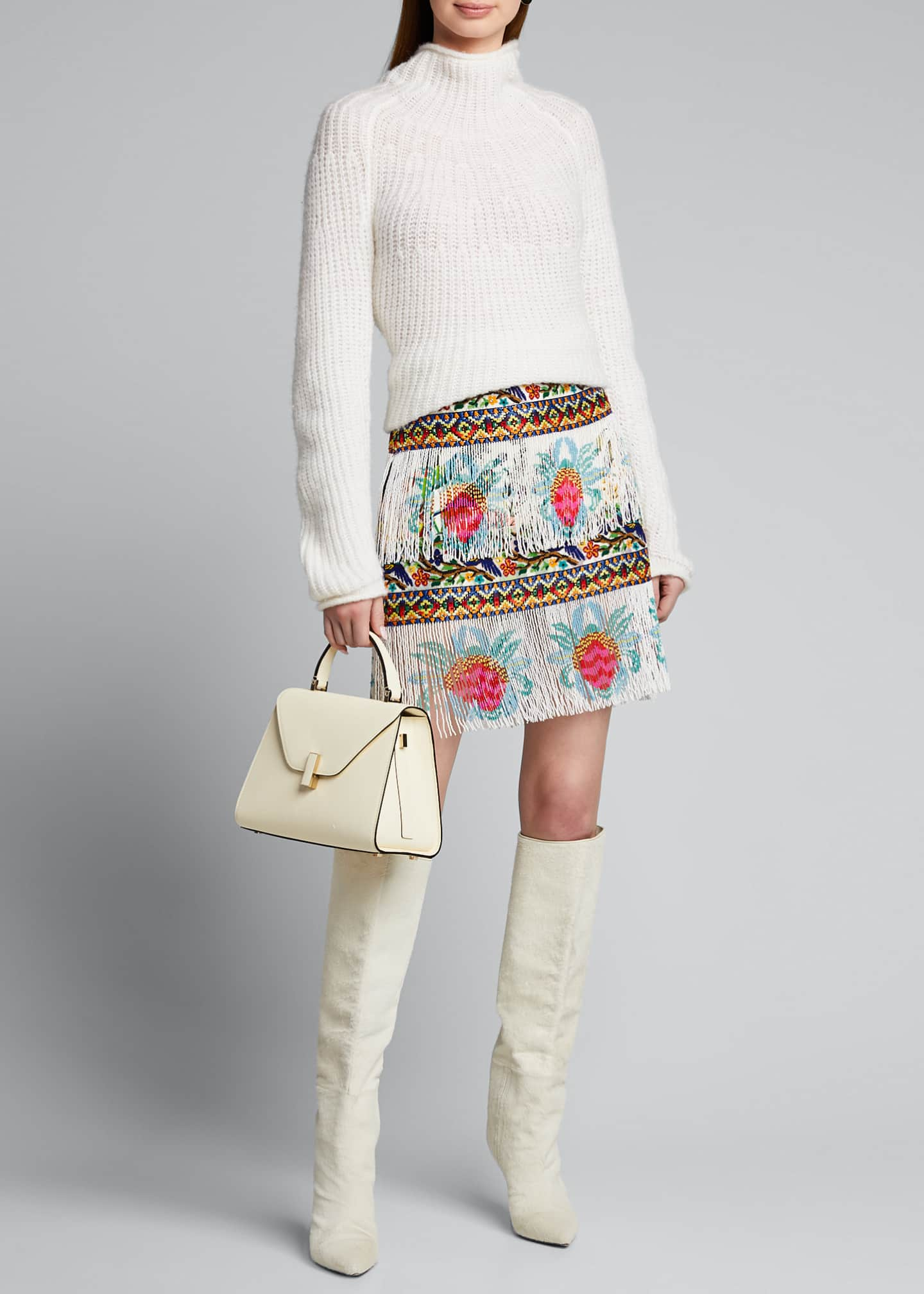 Camilla Beaded Embroidered Mini Skirt