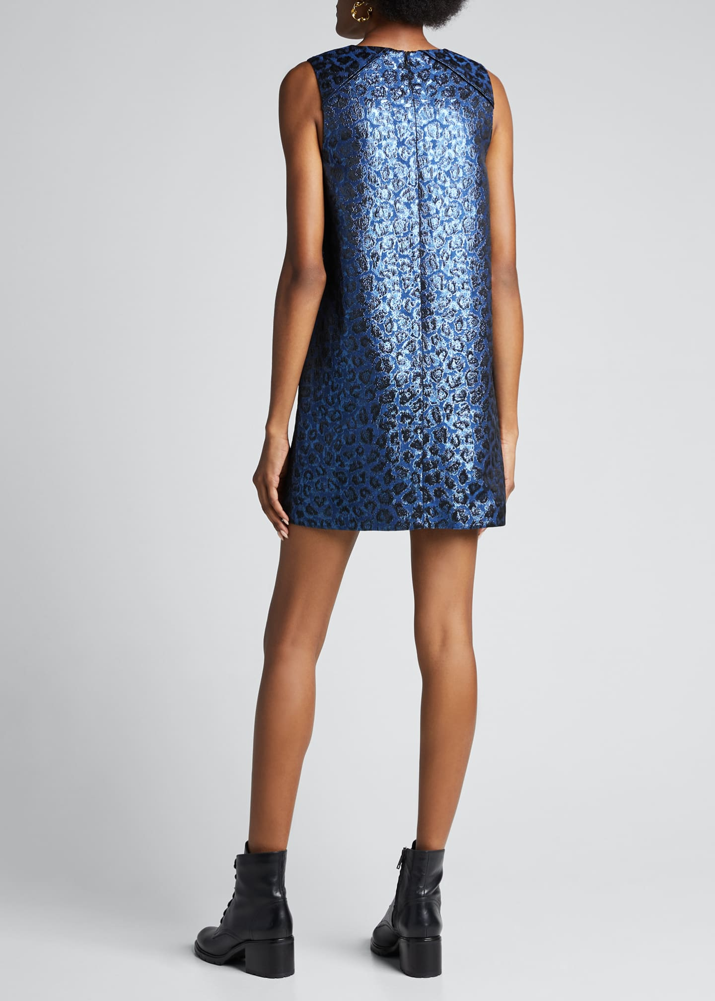Image 2 of 5: Tracy Metallic Leopard Shift Dress