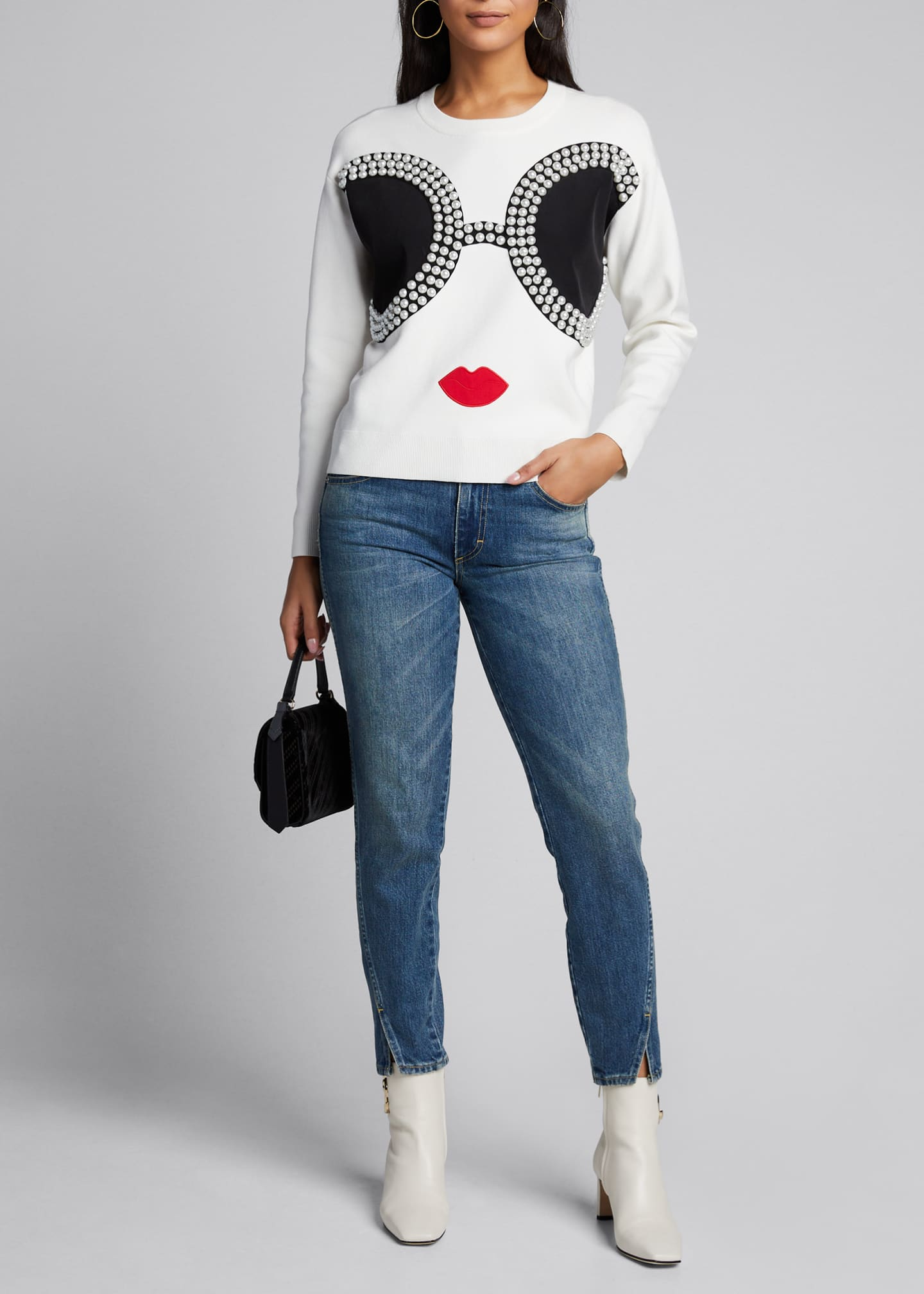 Alice + Olivia Gleeson StaceFace Pullover