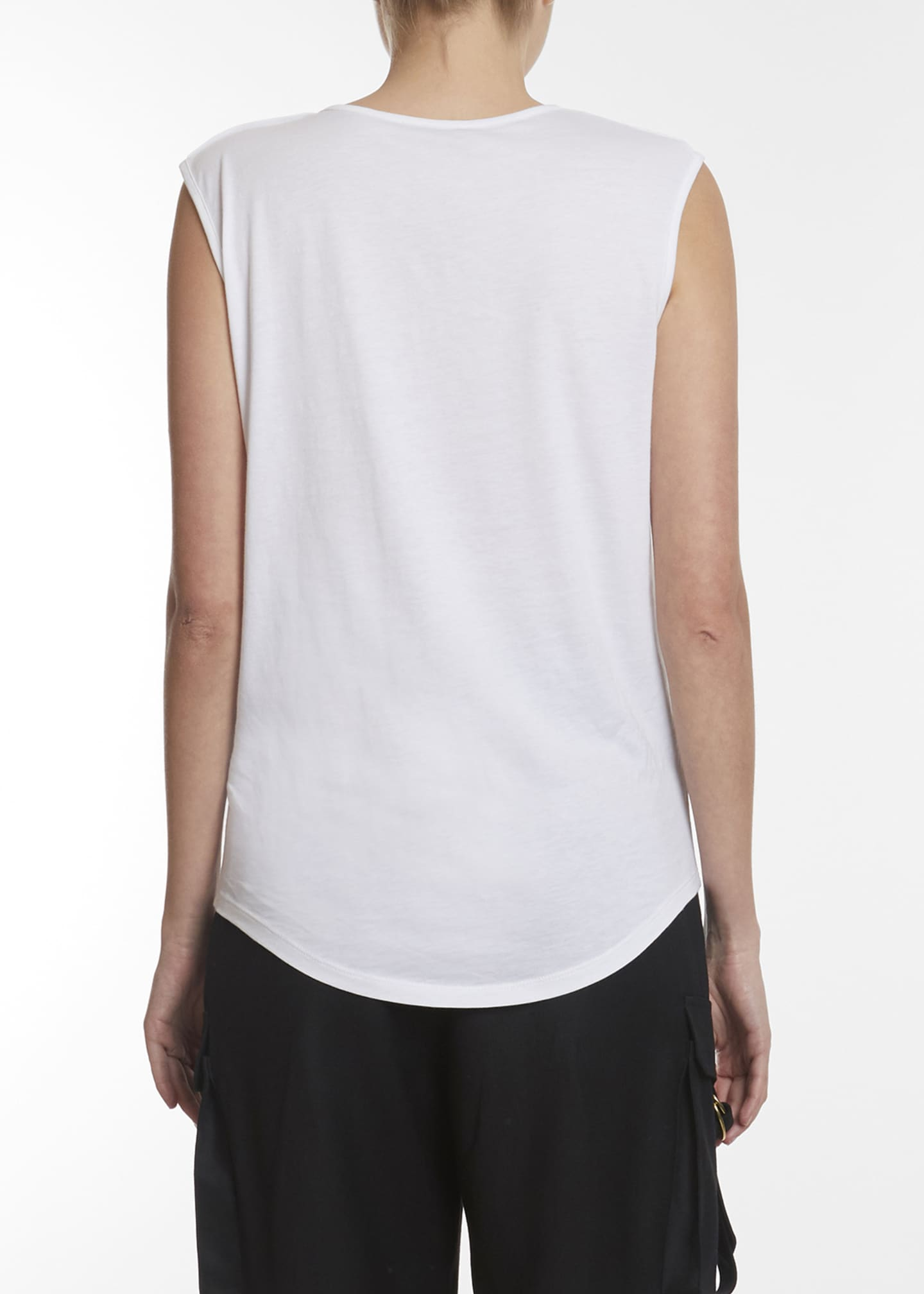 Image 2 of 2: Sleeveless Flocked Logo Top