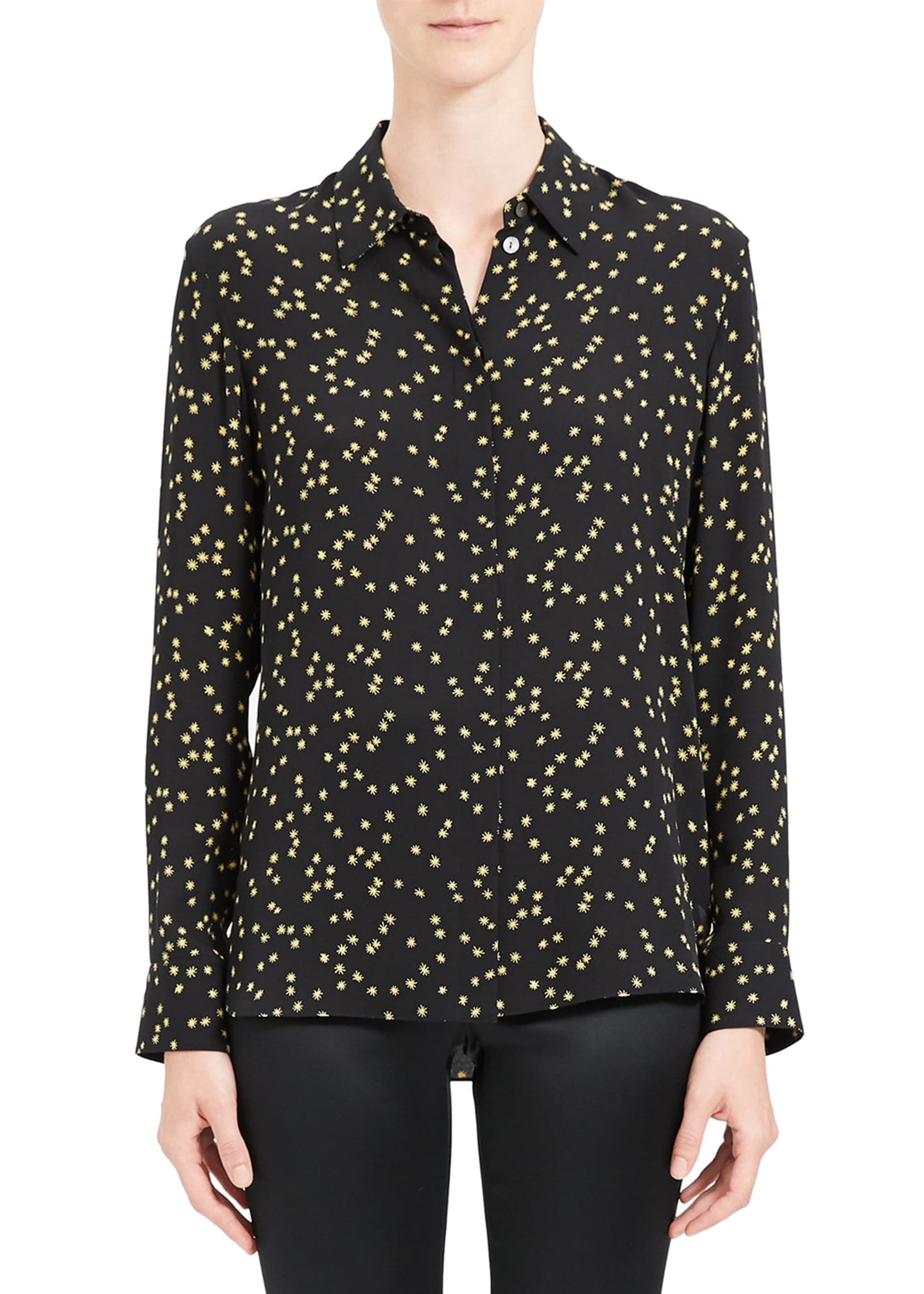 Image 2 of 4: Classic Printed Button-Down Shirt