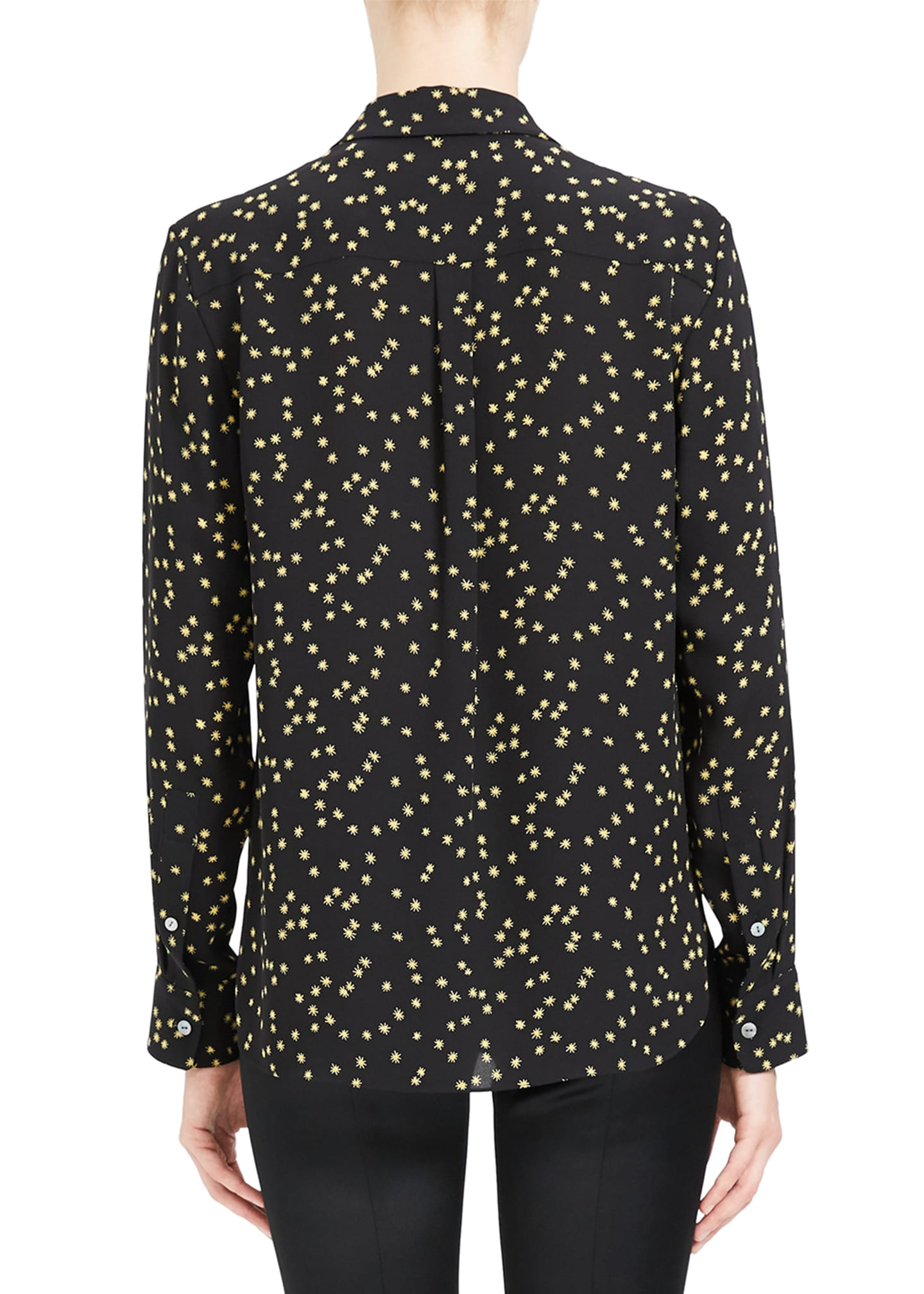 Image 3 of 4: Classic Printed Button-Down Shirt