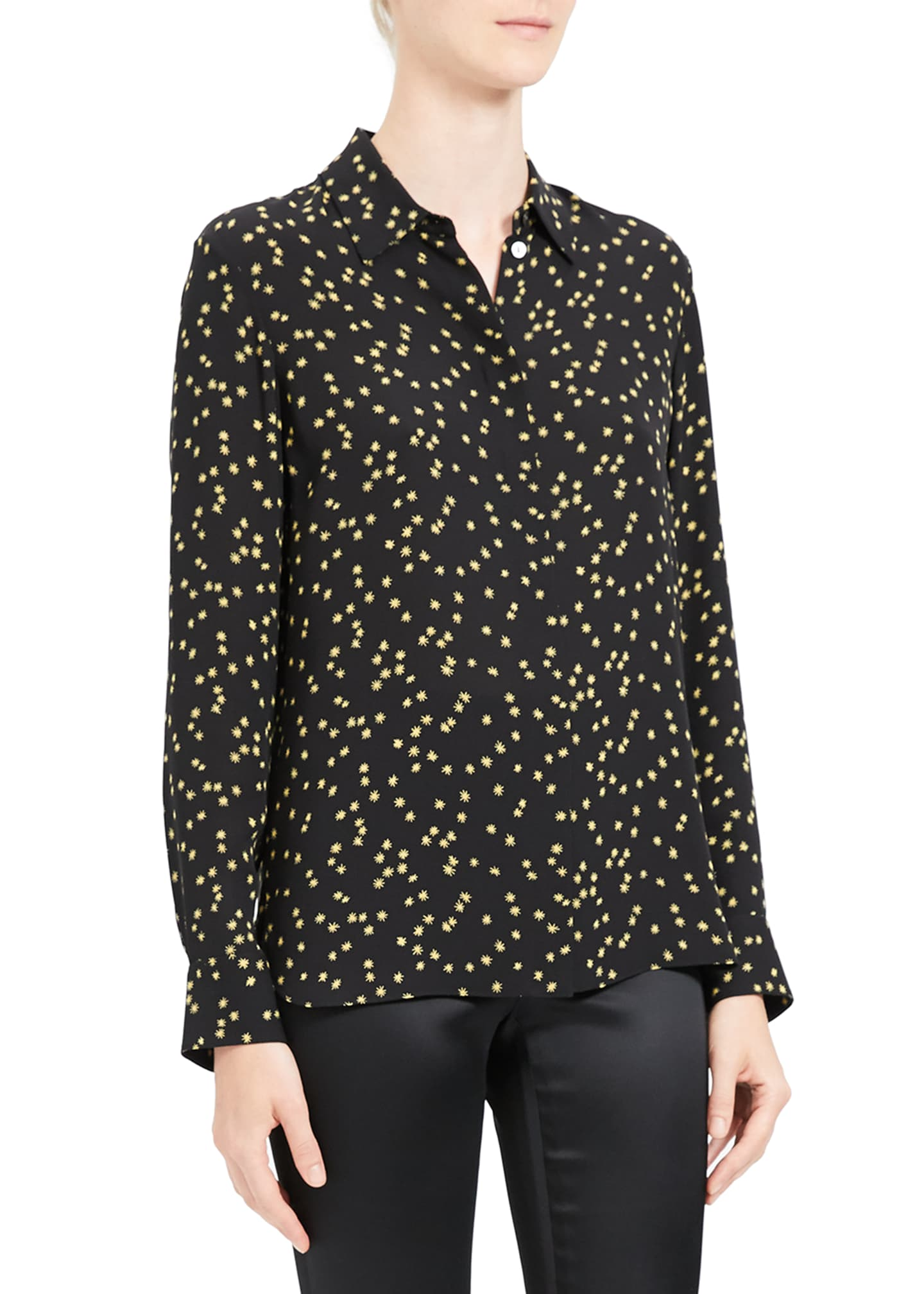 Image 4 of 4: Classic Printed Button-Down Shirt