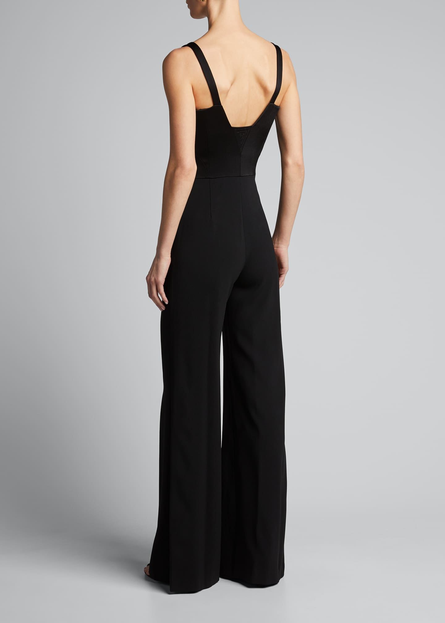 Image 2 of 4: Sleeveless Wide-Leg Corset Jumpsuit