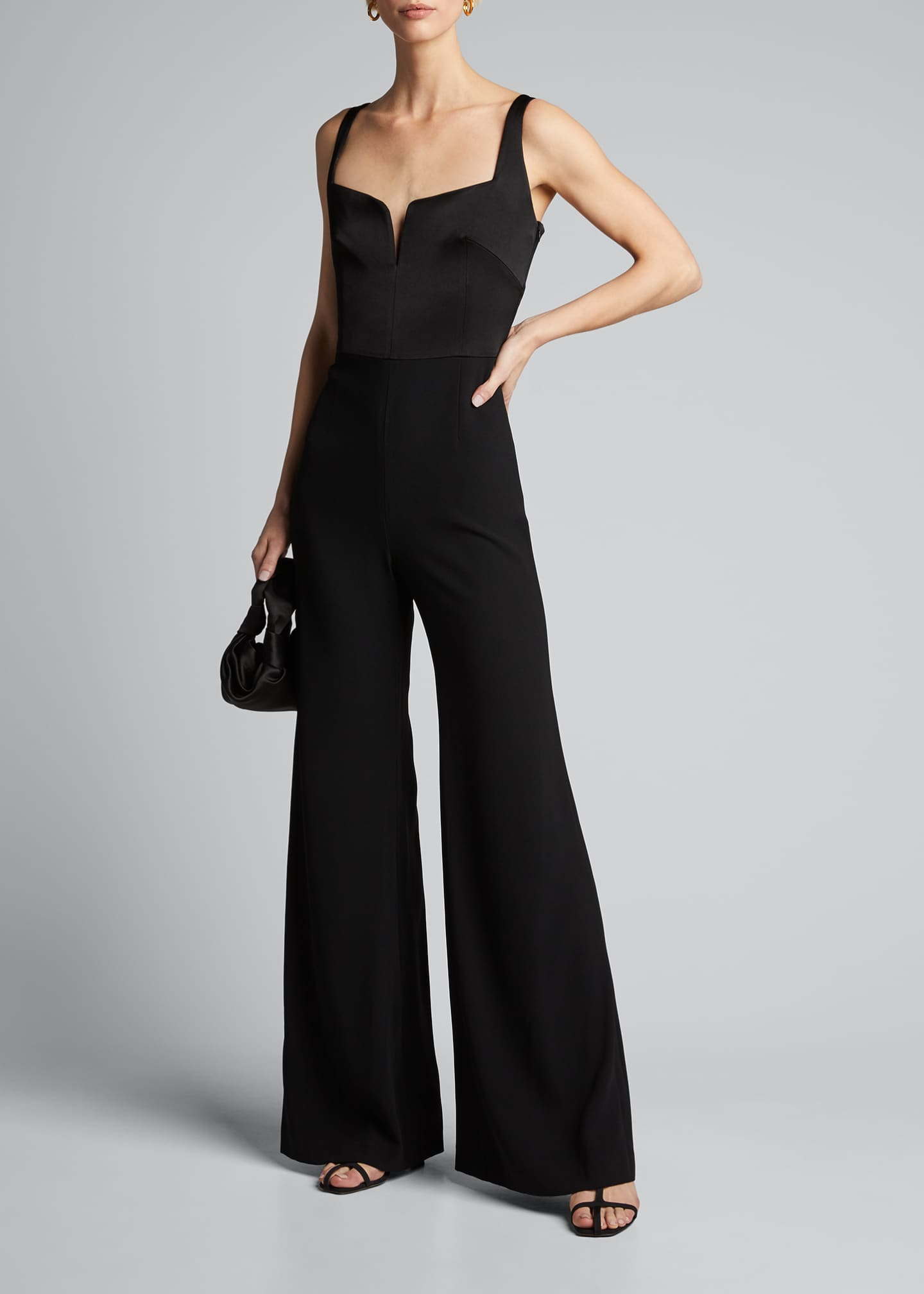 Sleeveless Wide-Leg Corset Jumpsuit