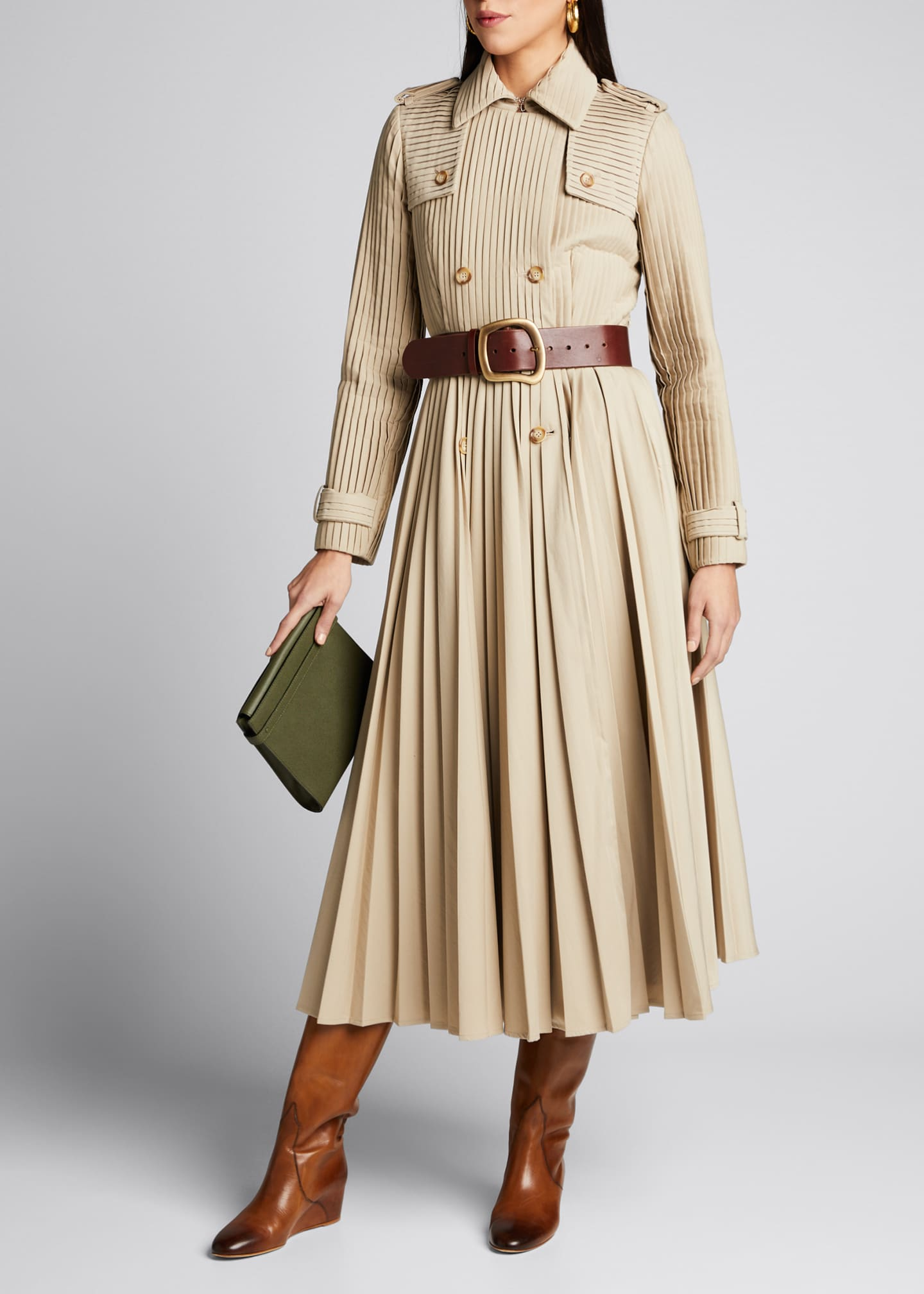 Gabriela Hearst Stein Pleated Trench Coat