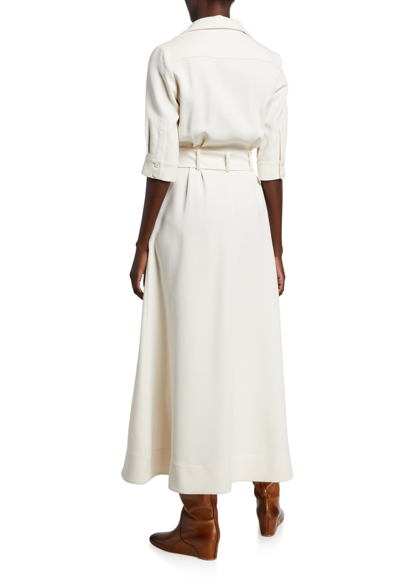 Image 2 of 2: Simone Double-Face Crepe Dress