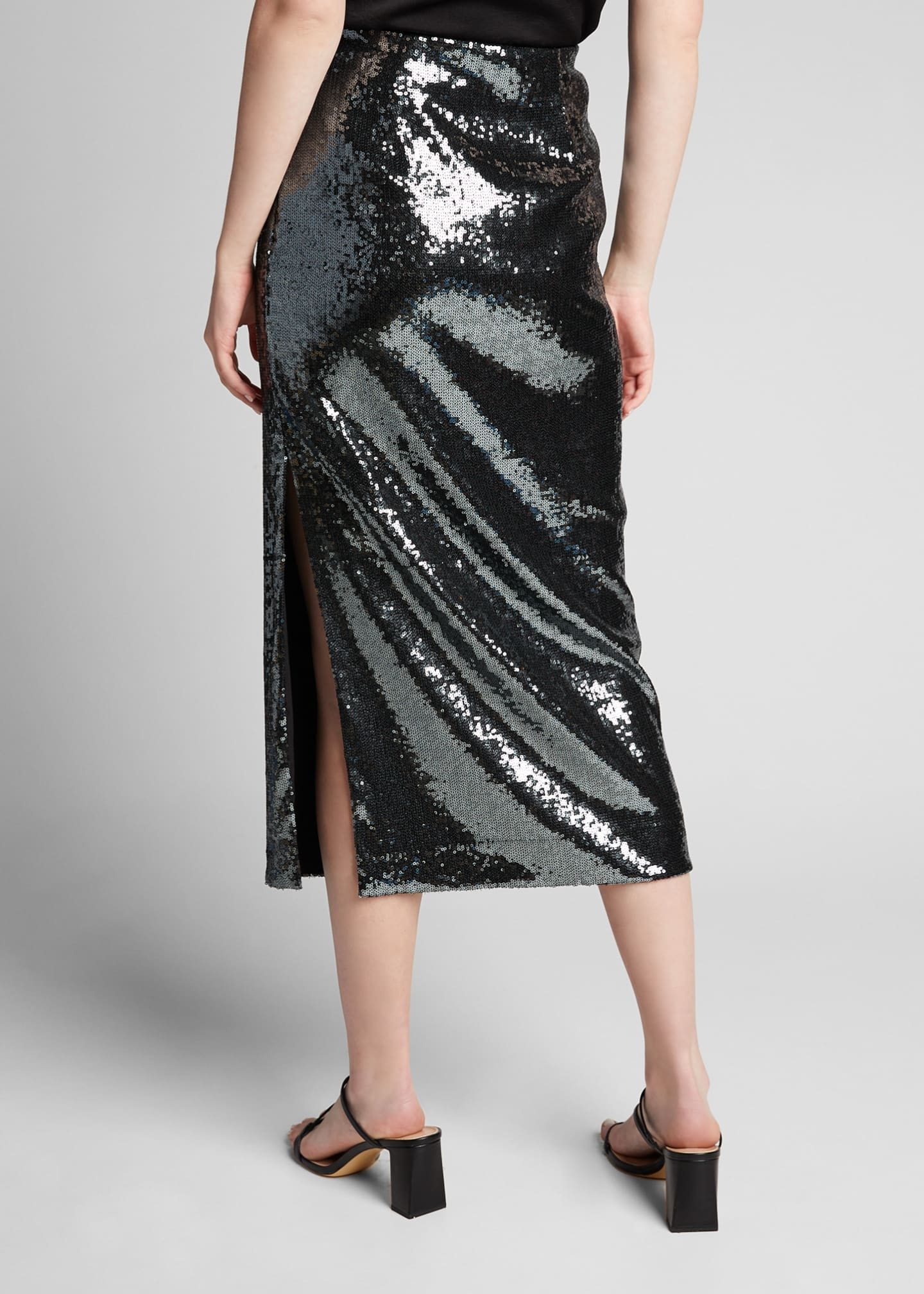 Image 2 of 5: Sequined Pencil Midi Skirt