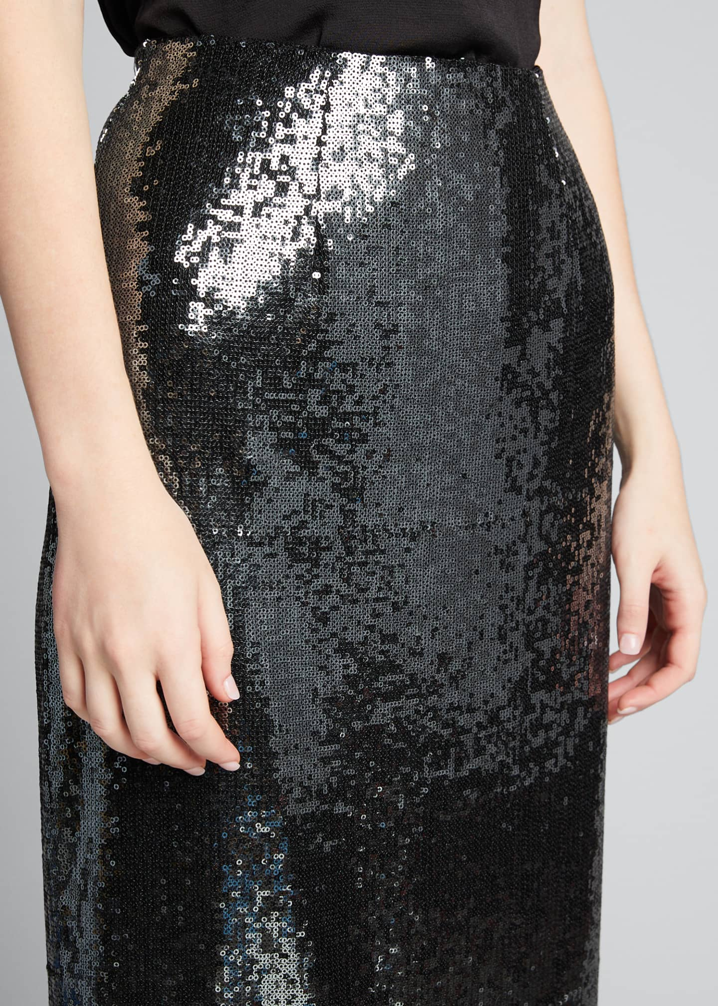 Image 4 of 5: Sequined Pencil Midi Skirt