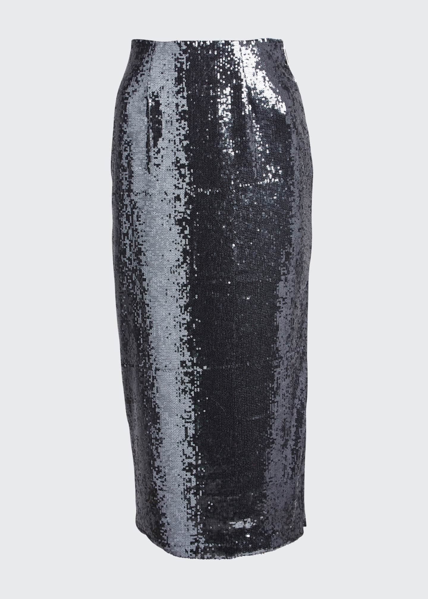 Image 5 of 5: Sequined Pencil Midi Skirt