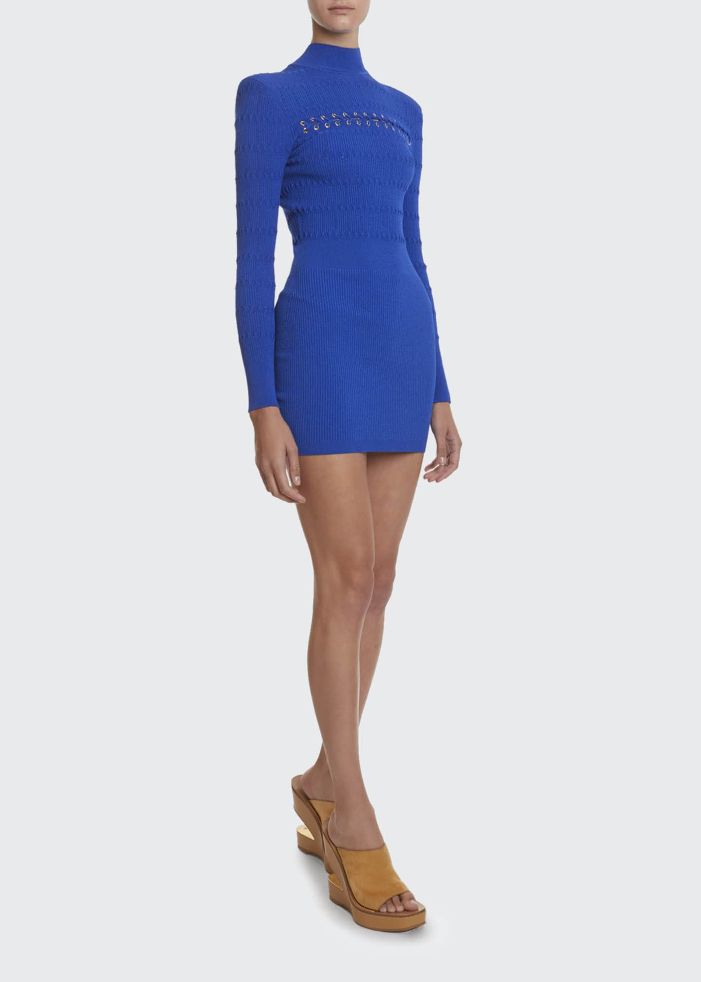 Image 1 of 2: Lace-Up Jersey Dress